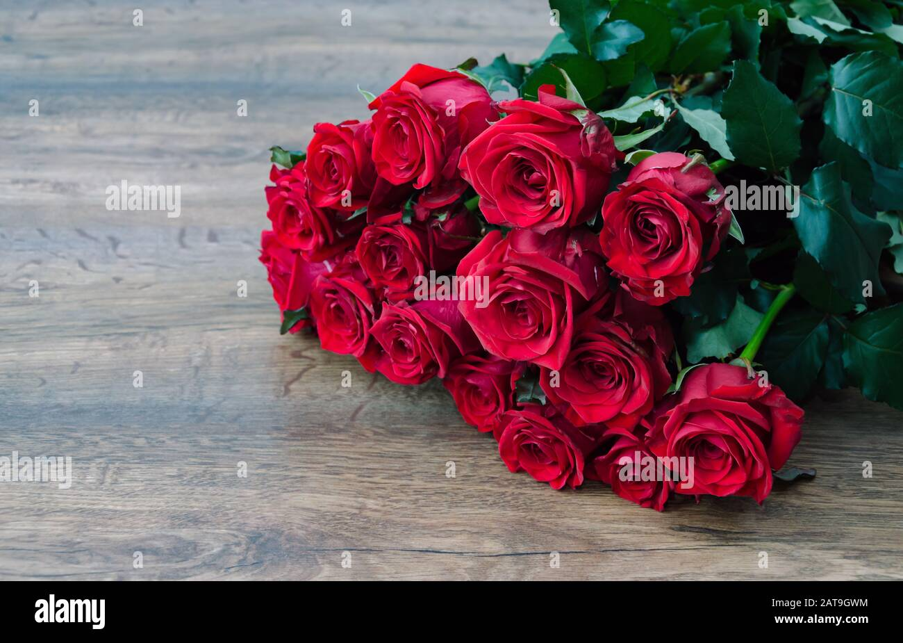 rose red, composition with red roses for the holiday, birthday, Valentine's Day, Stock Photo