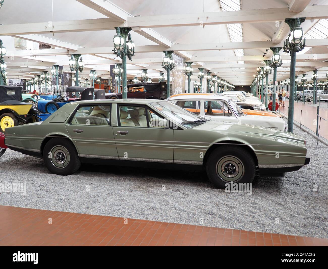 Side Of Aston Martin Lagonda Series 2 From 1982 Produced In 1976 1985 In European Mulhouse City France Stock Photo Alamy