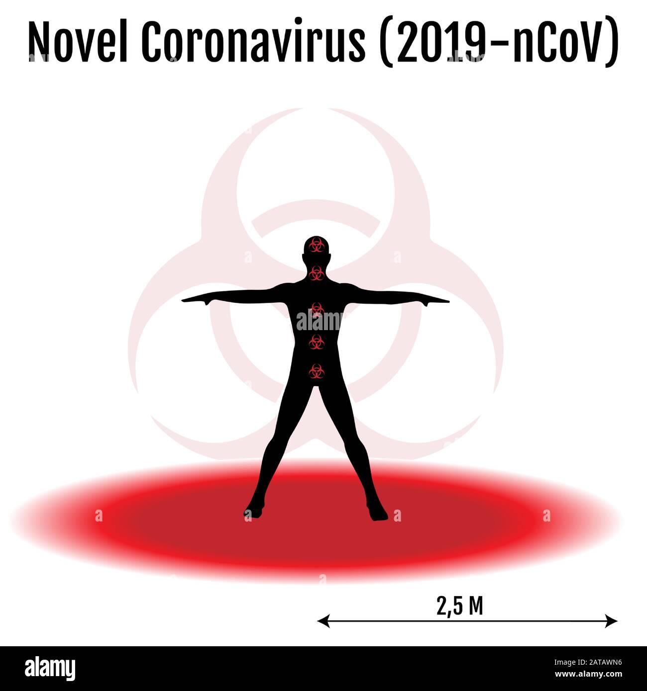 Novel coronavirus 2019-nCoV infographic template Stock Vector