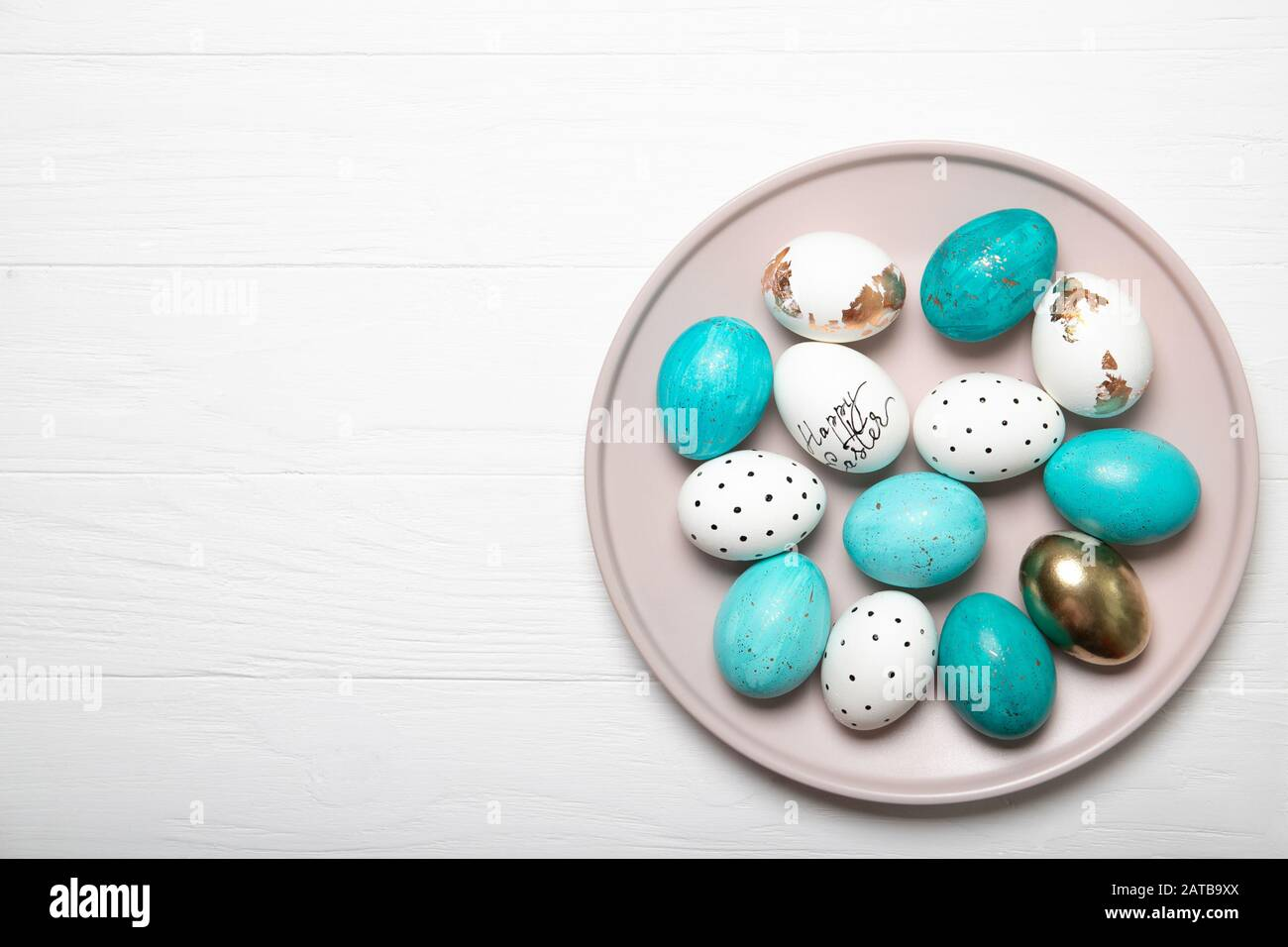 Easter eggs. Easter Eggs Composition Stock Photo