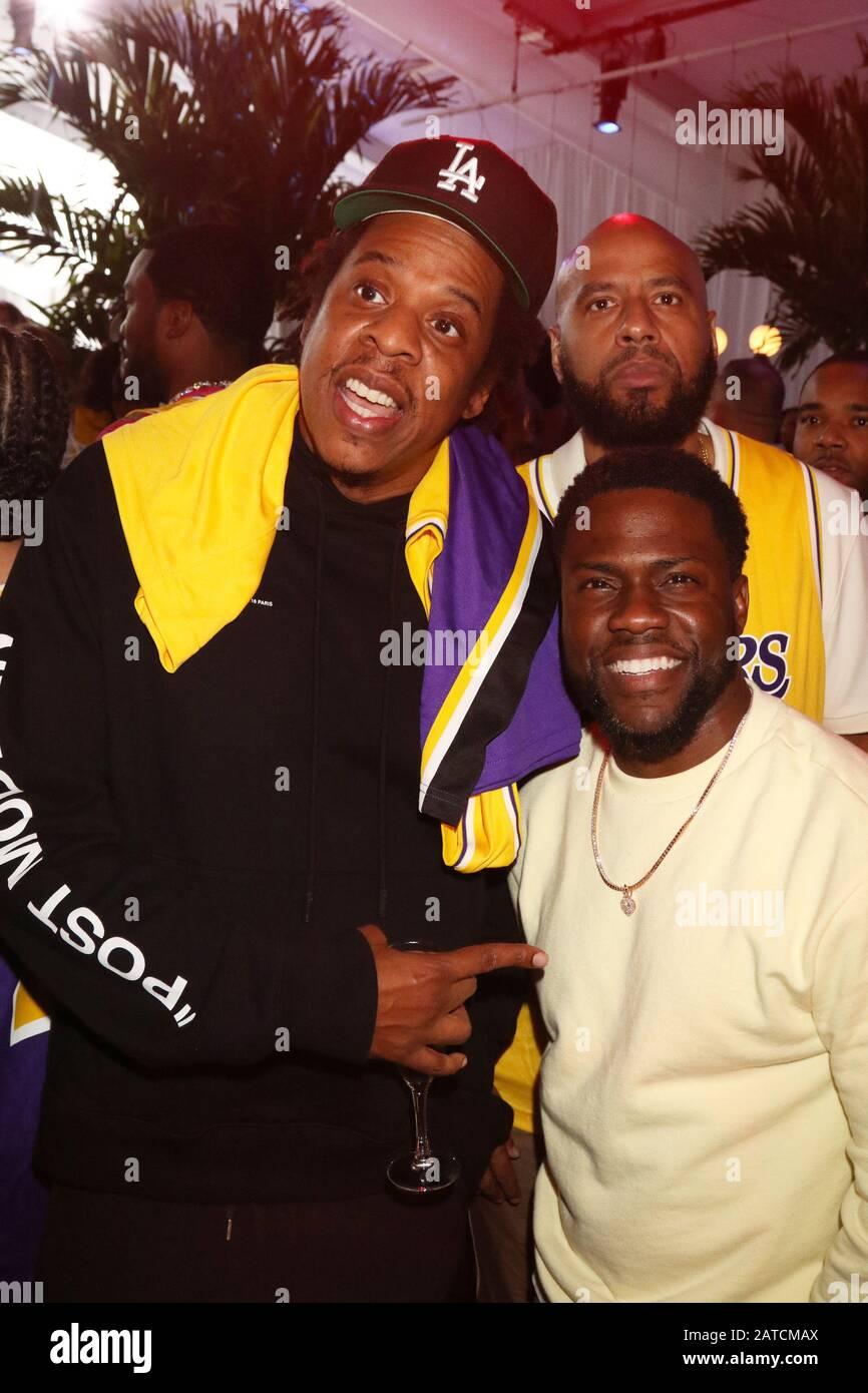 Miami Beach Florida Usa 01st Feb 2020 Jay Z And Kevin Hart At Michael Rubin S Fanatics