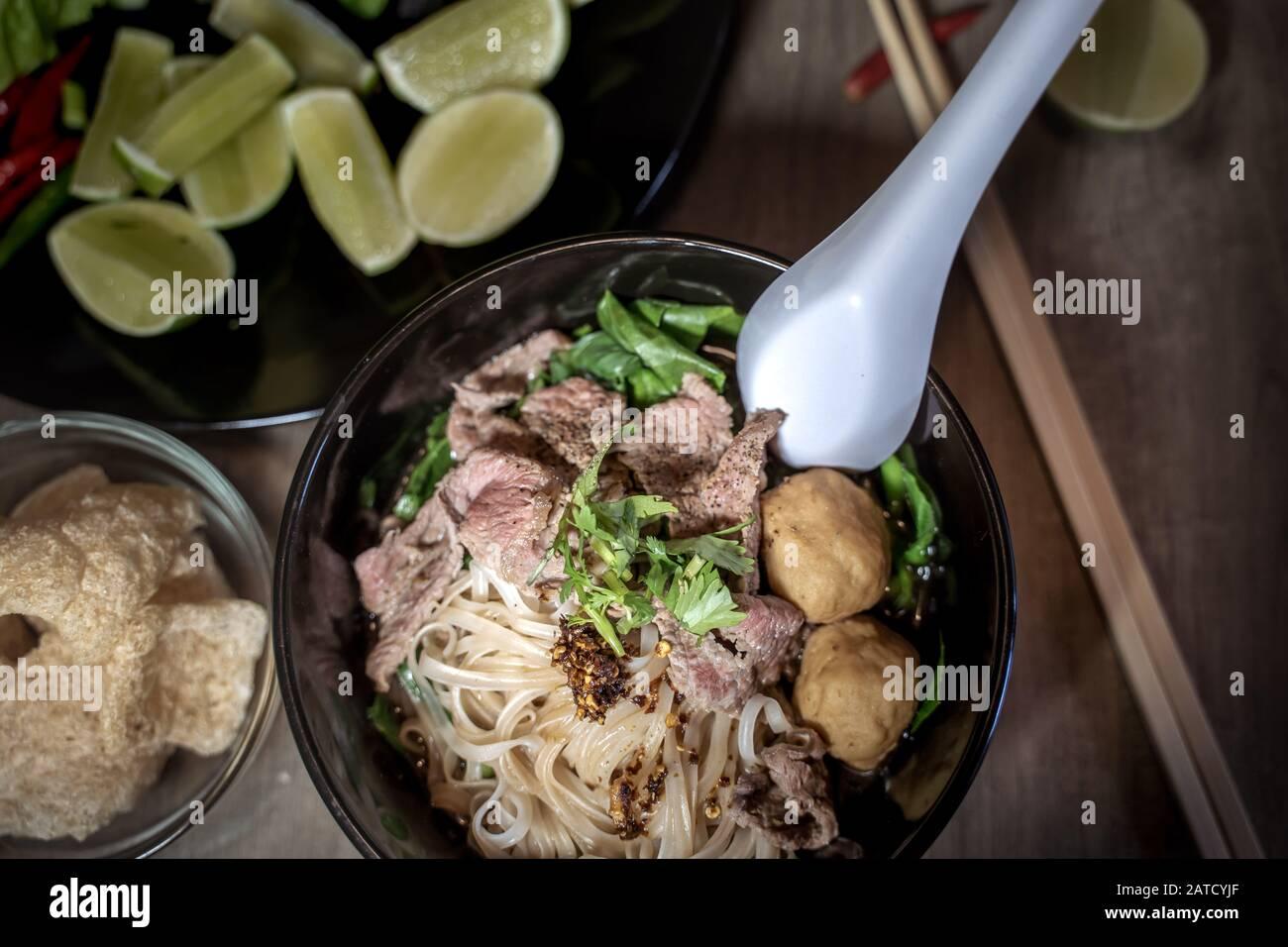 Thai Style Noodle Blood Soup Boat Noodle Delicious Dish Famous Thai Noodle Soup Thai Peoples Call Boat Noodles Close Up Or Selective Focus Stock Photo Alamy,How Long Do Bettas Live In Fish Bowls
