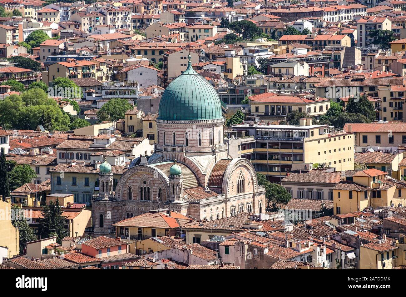 Florence. The building of the city's synagogue. Stock Photo