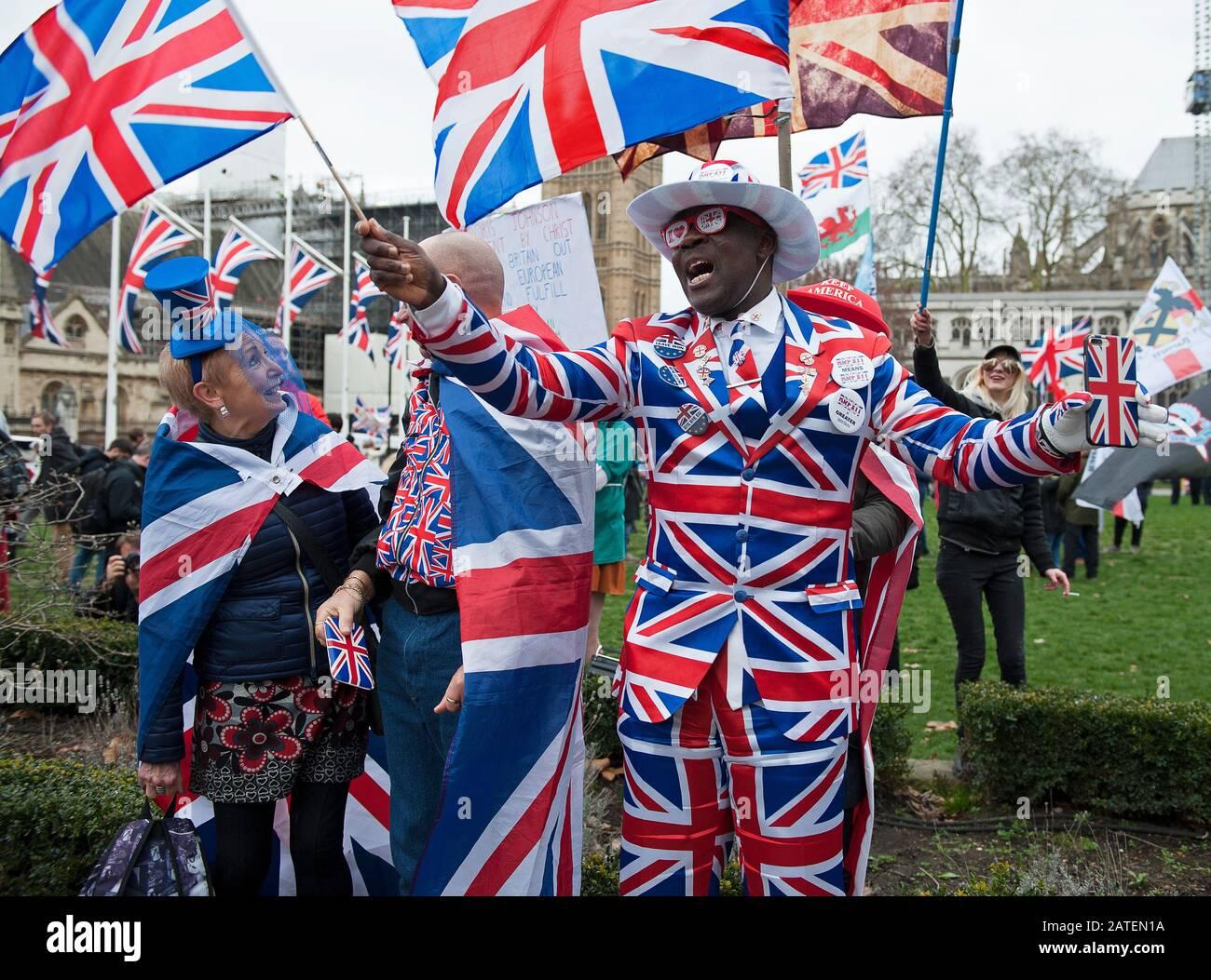 Brexit Day Celebrations Stock Photo