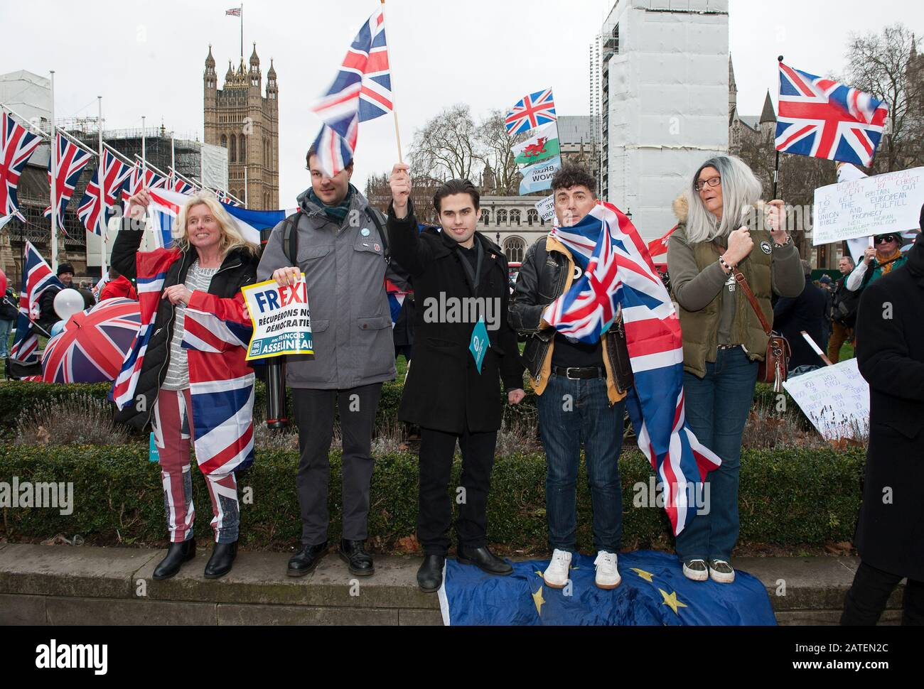 Brexit Day Celebrations Stock Photo
