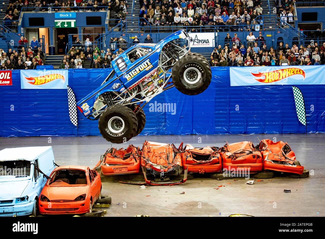 Birmingham Uk 01st February 2020 Spectacular Live Show Featuring Some Of The Greatest Monster Truck Drivers