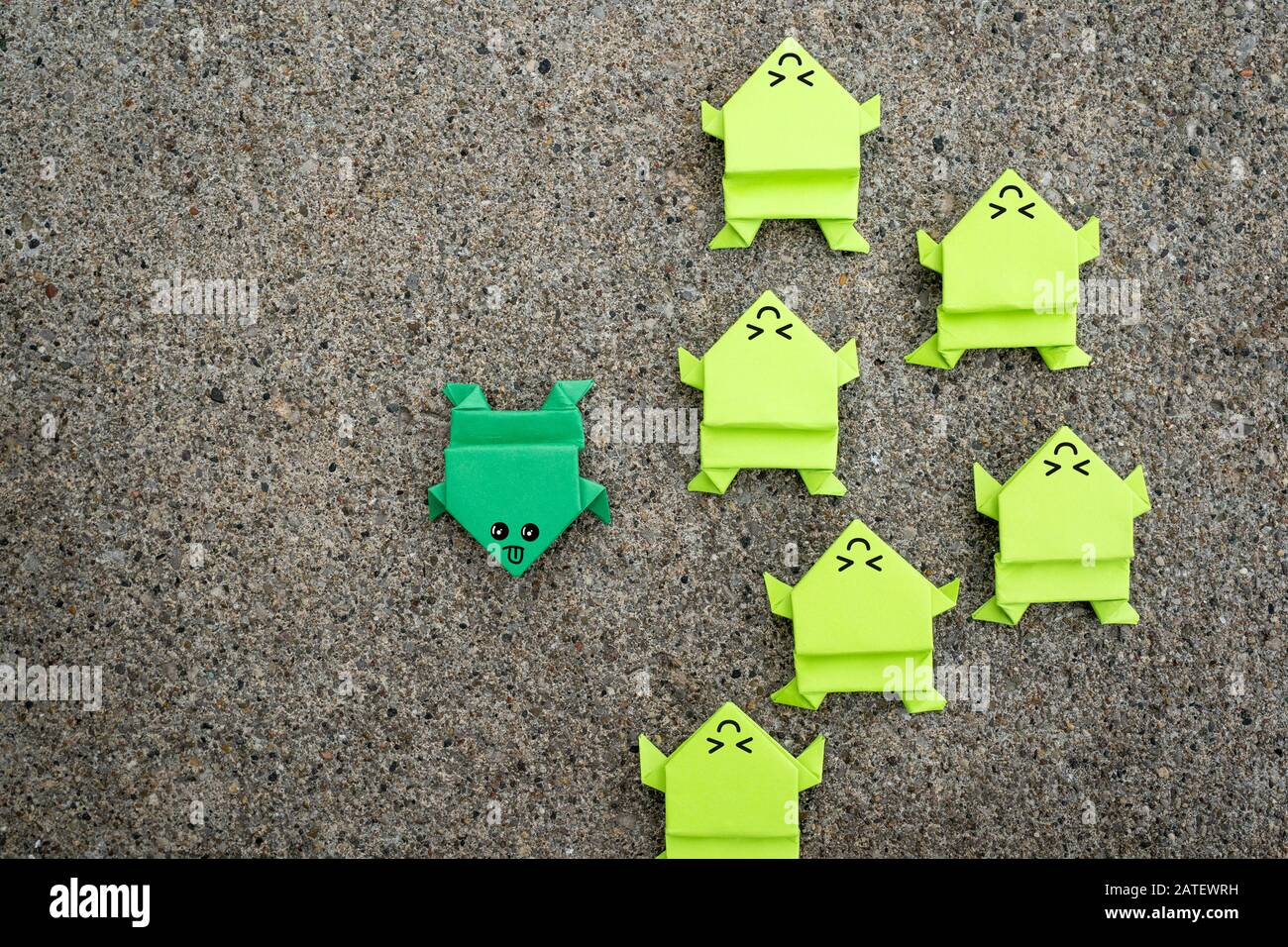 Being different, unique or special concept Stock Photo