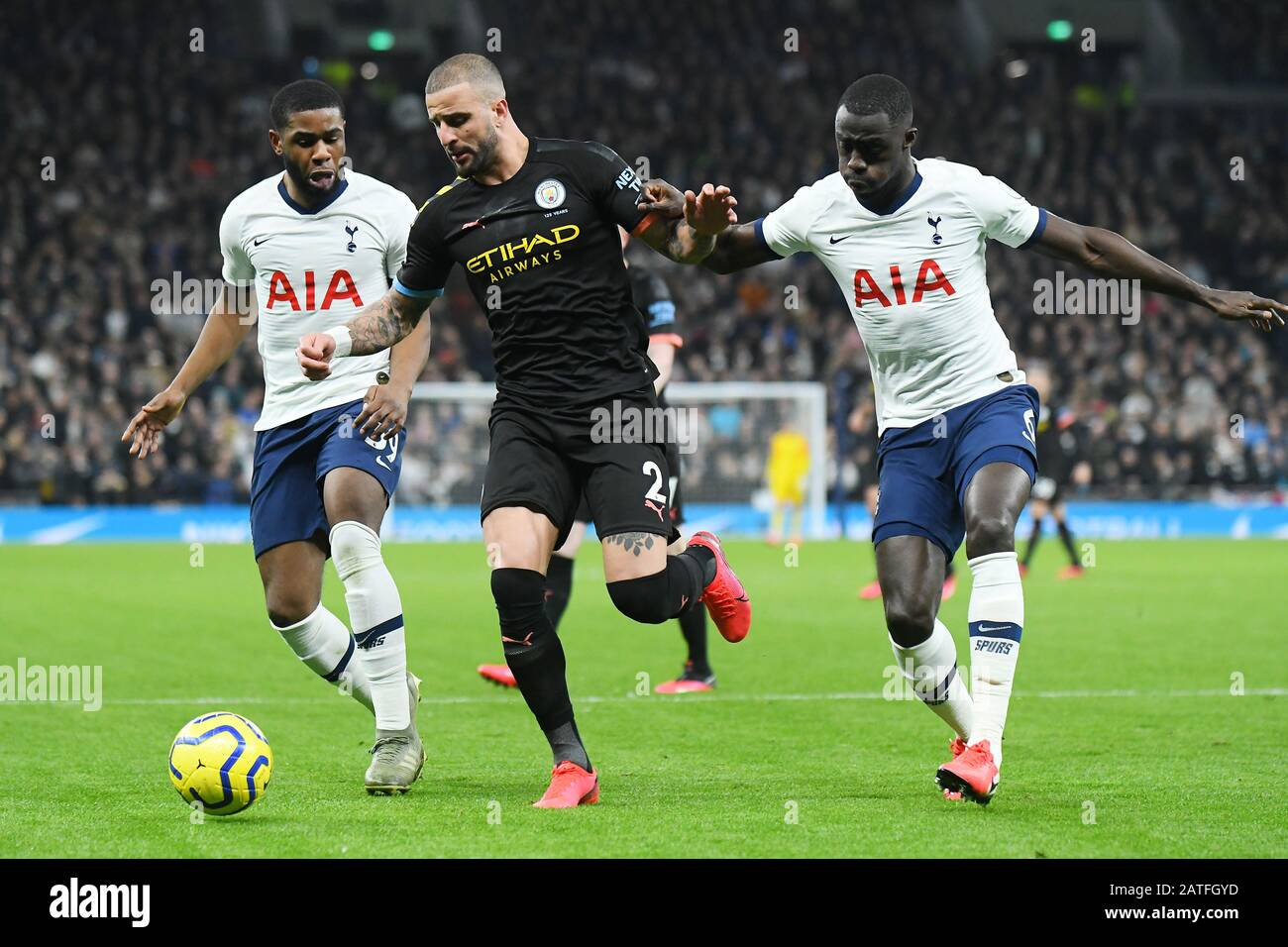 London England February 2 2020 Kyle Walker Of City And Davinson Sanchez Of Tottenham Pictured During