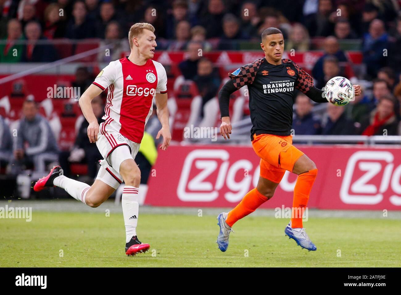 2 February 2020 Amsterdam The Netherlands Soccer Ajax V Psv Eredivisie 2019 2020 Perr Schuurs Of Ajax Mohammed Ihattaren Of Psv Eindhoven Stock Photo Alamy