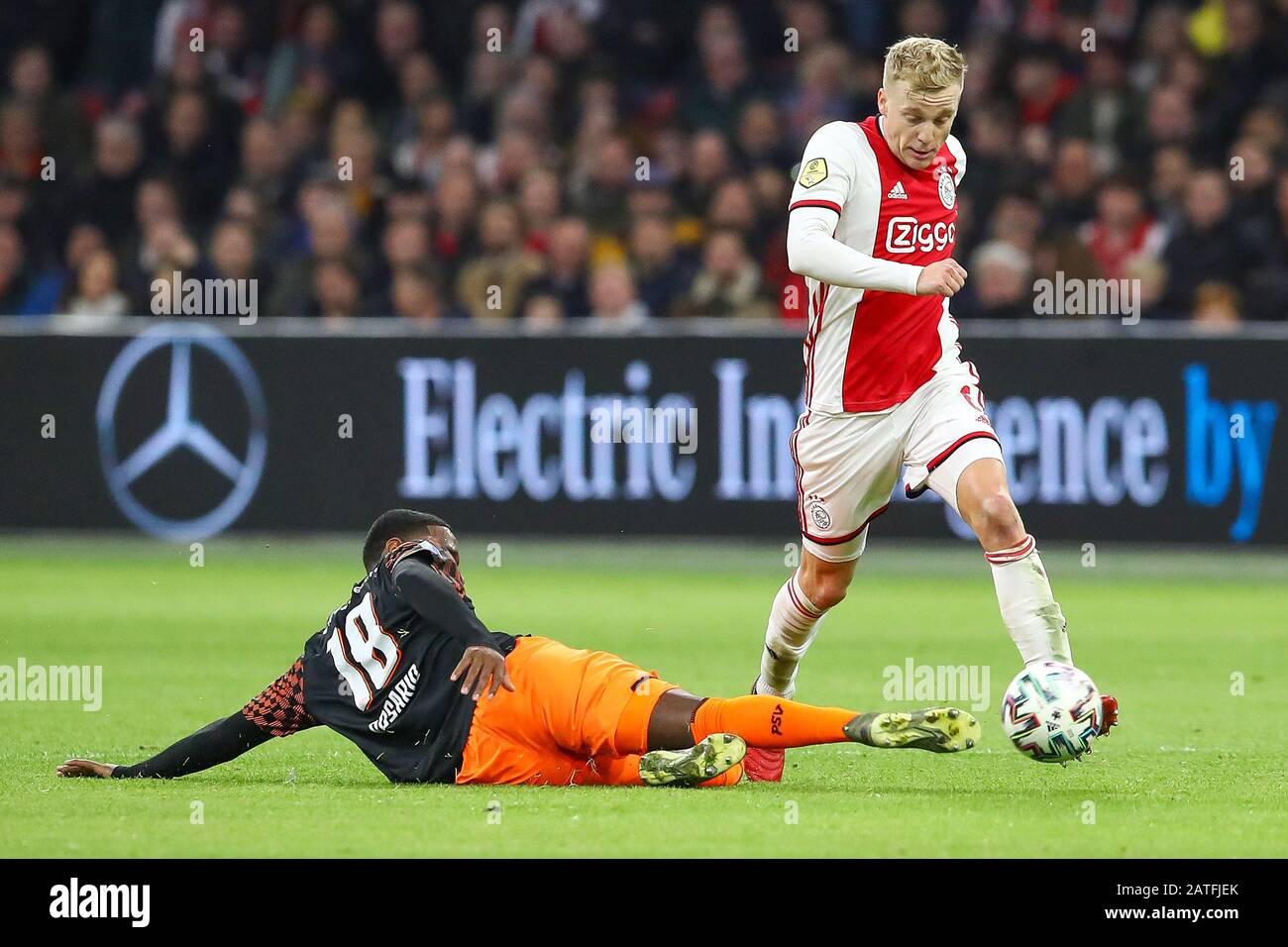 2 February 2020 Amsterdam The Netherlands Soccer Ajax V Psv Eredivisie 2019 2020 Pablo Rosario Of Psv Eindhoven Donny Van De Beek Of Ajax Stock Photo Alamy