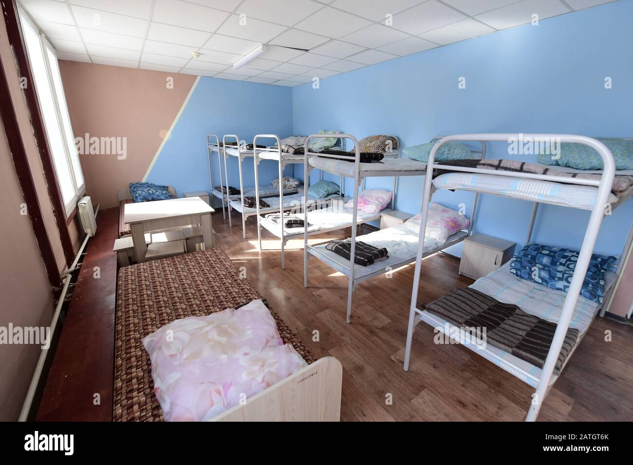Picture of: Primorye Territory Russia February 3 2020 Bunk Beds In A Bedroom In A Quarantine Facility For
