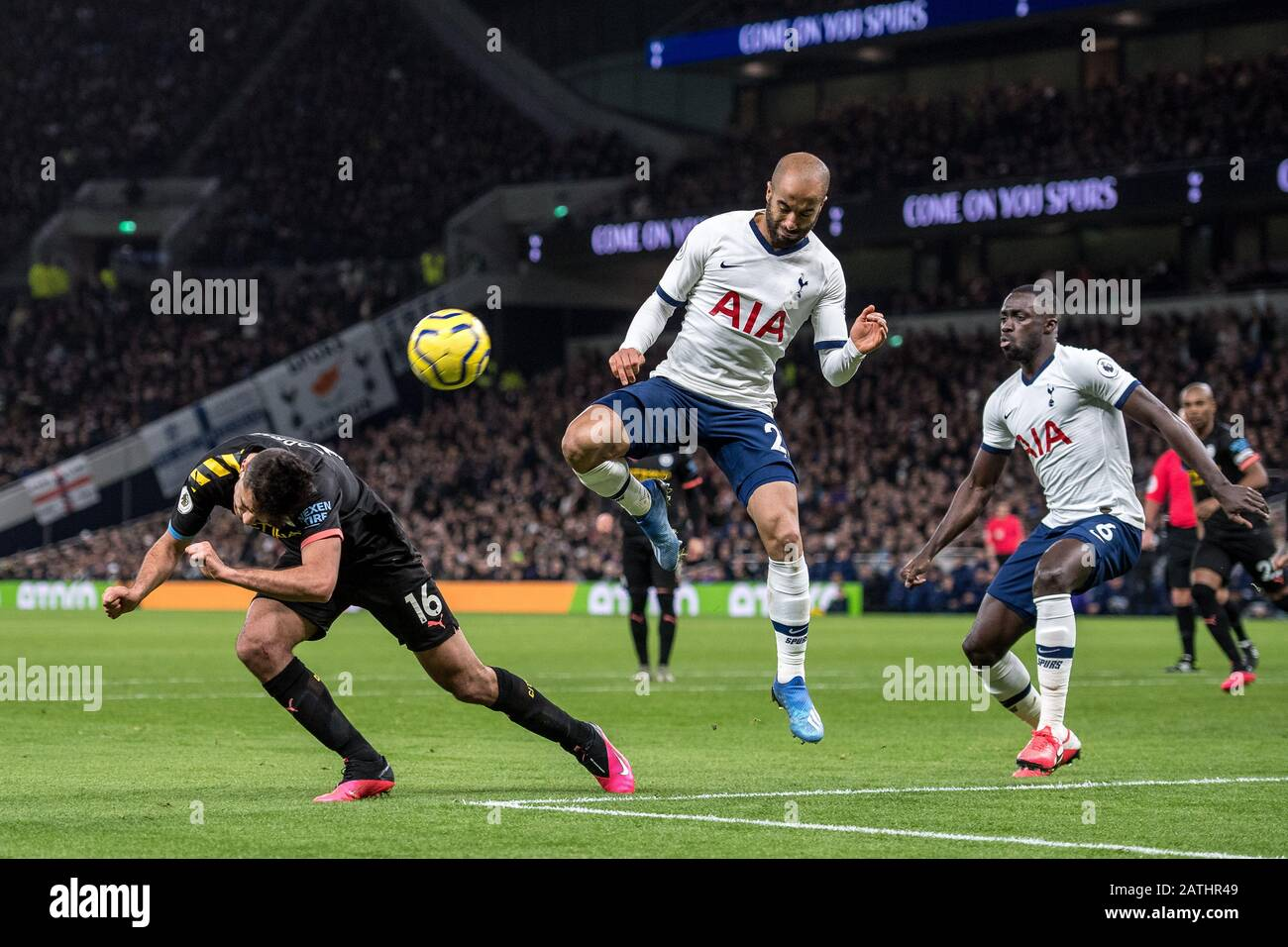 LONDON, ENGLAND - FEBRUARY 02: during the Premier League match between Tottenham Hotspur and Manchester City at Tottenham Hotspur Stadium on February Stock Photo