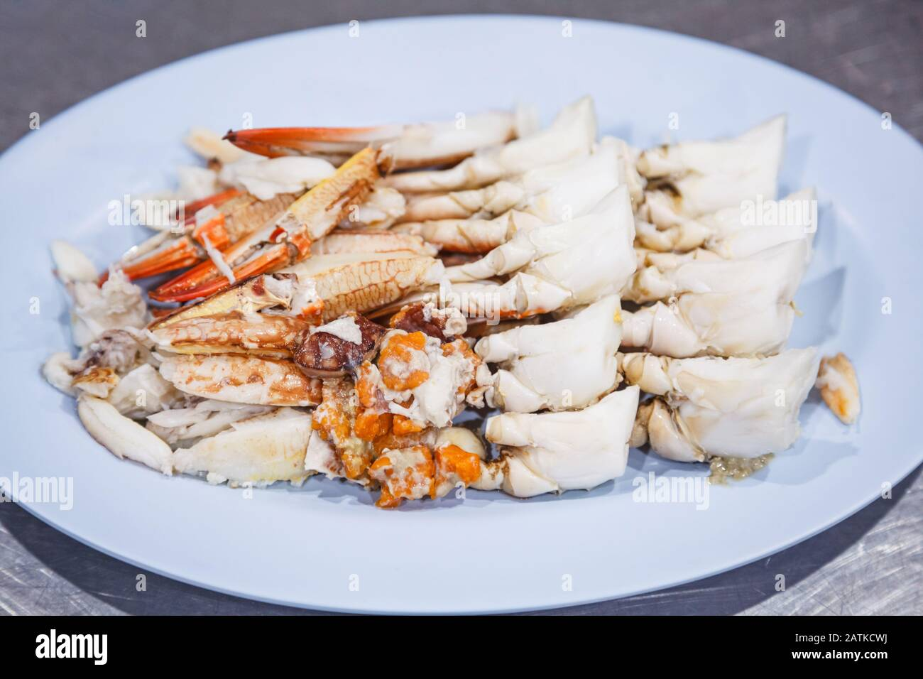 Steamed Blue Crab Scabbard Or Paddle Leg Meat From Sea Market Fresh Tasty Appetizing Cooked Thai Asian Seafood Dish Nutrition Allergy Aquatic Food Stock Photo Alamy
