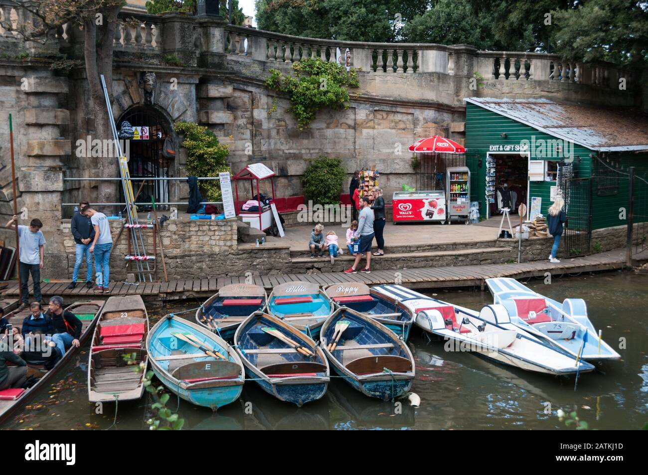 Punting on the river Cherwell, Oxford, United Kingdom Stock Photo