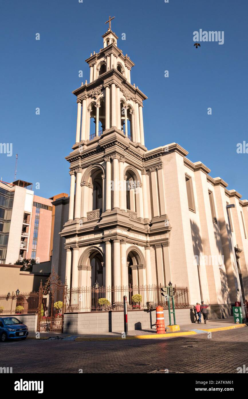 The Iglesia Sagrado Corazon De Jesus Or Sacred Heart Of Jesus Church In The Barrio Antiguo Neighborhood Of Monterrey Nuevo Leon Mexico The Church Was Built Between Between 1873 And 1904 Stock