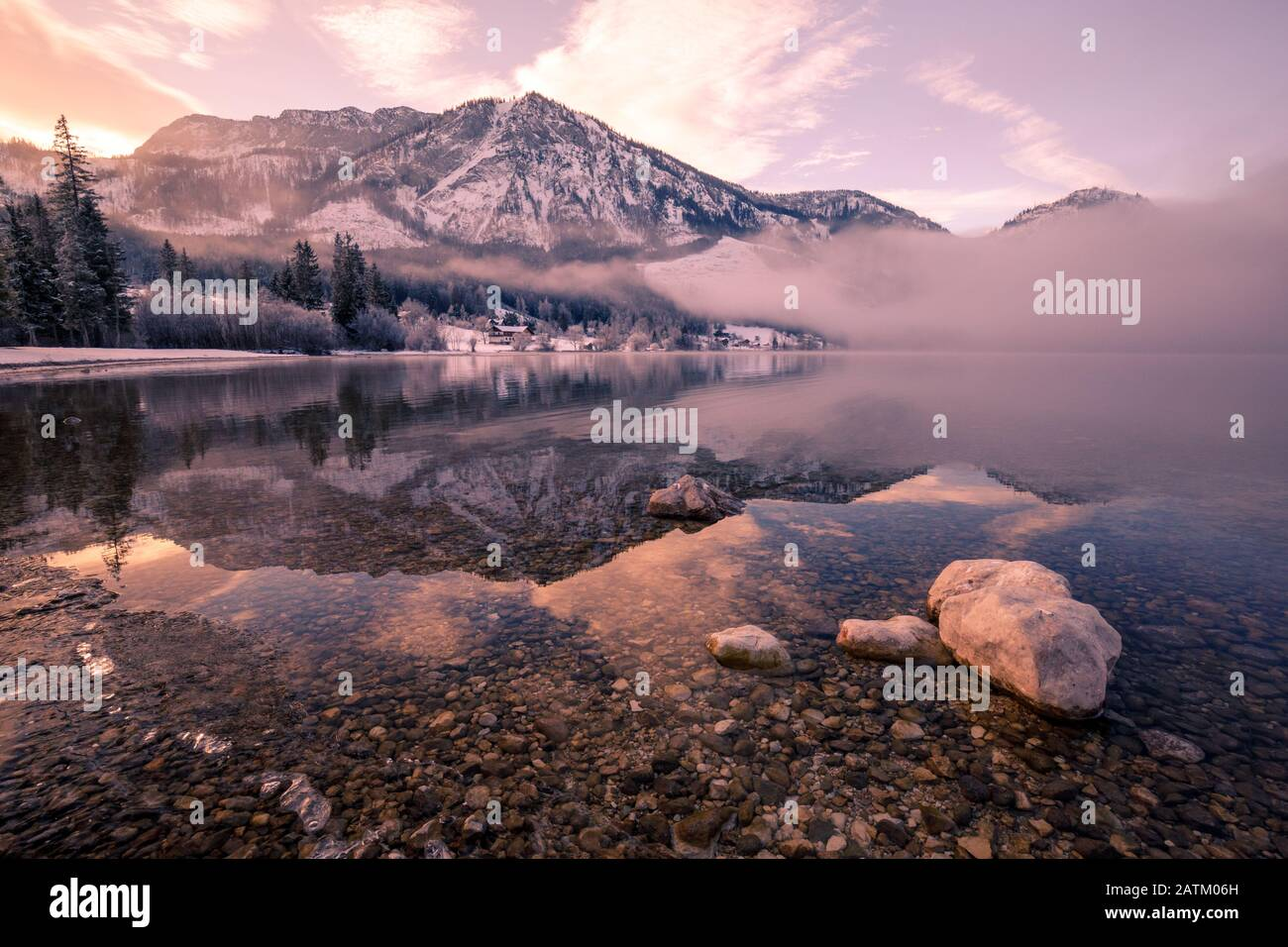 Overcast Winter Morning In Village High Resolution Stock Photography And Images Alamy