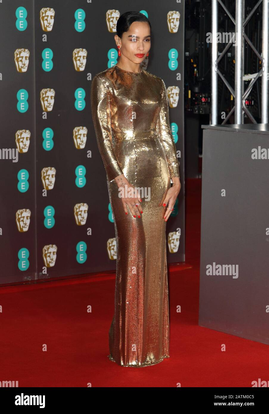Zoe Kravitz Attends The Bafta British Academy Film Awards At The Royal Albert Hall In London Stock Photo Alamy