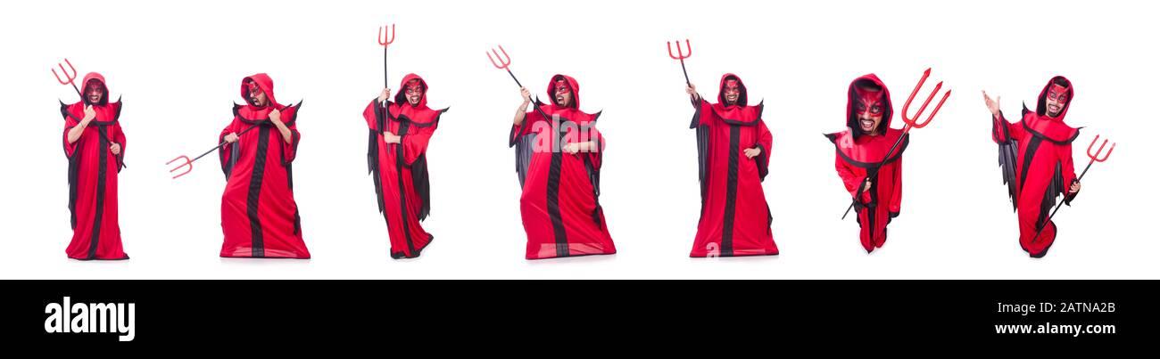 DEVIL SETS Costume for Satan Lucifer Demon horns bow tie tail pitchfork