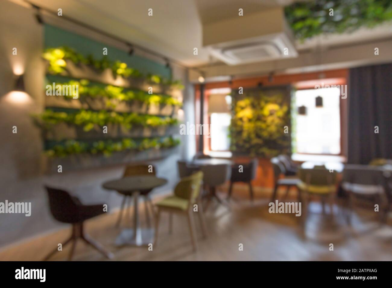 Interior Photography Of Wall Of Plants In Cafe Or Coffee Shop Stock Photo Alamy