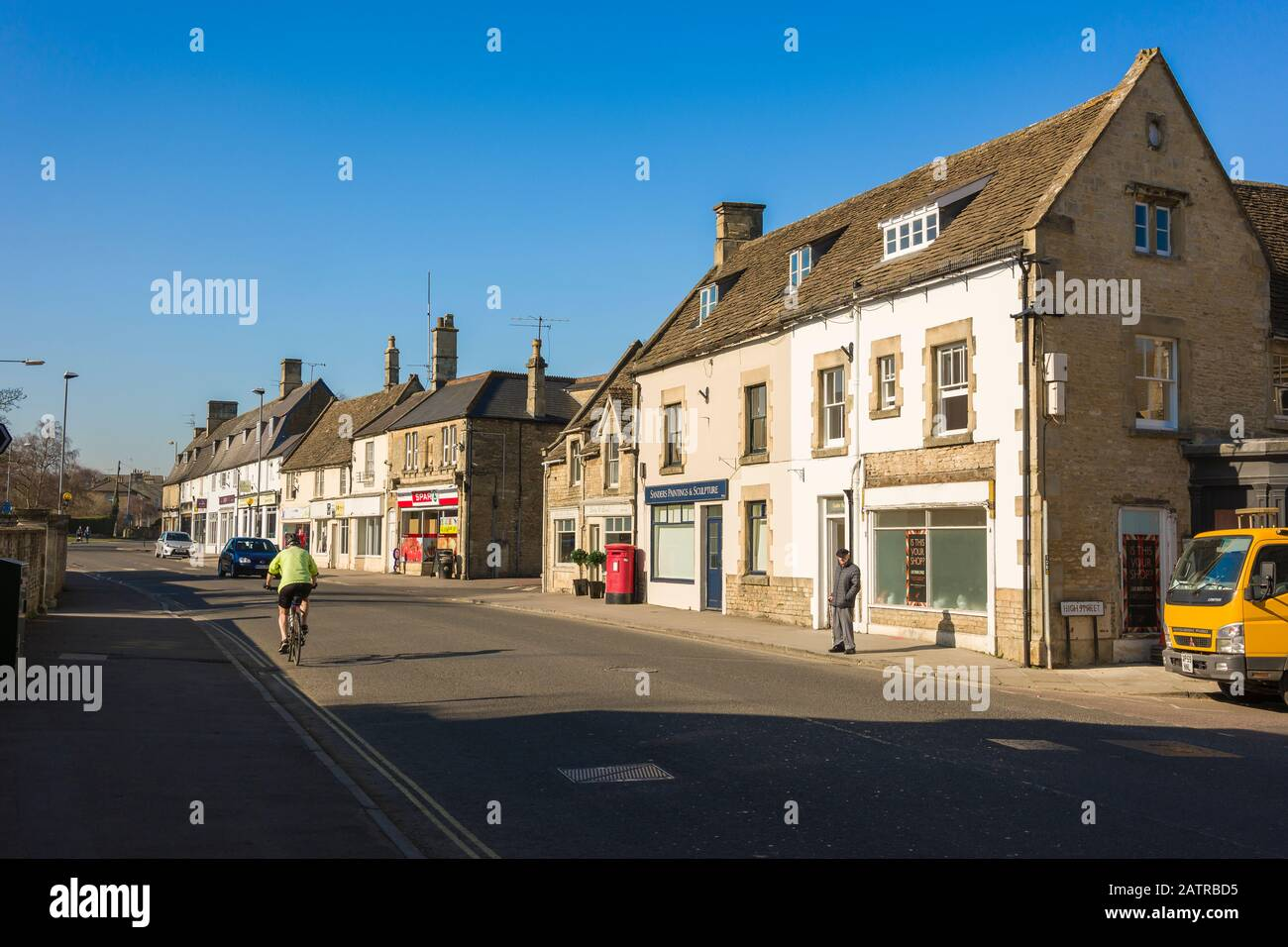 The road towards Bath in Corsham town Wiltshire England UK Stock Photo