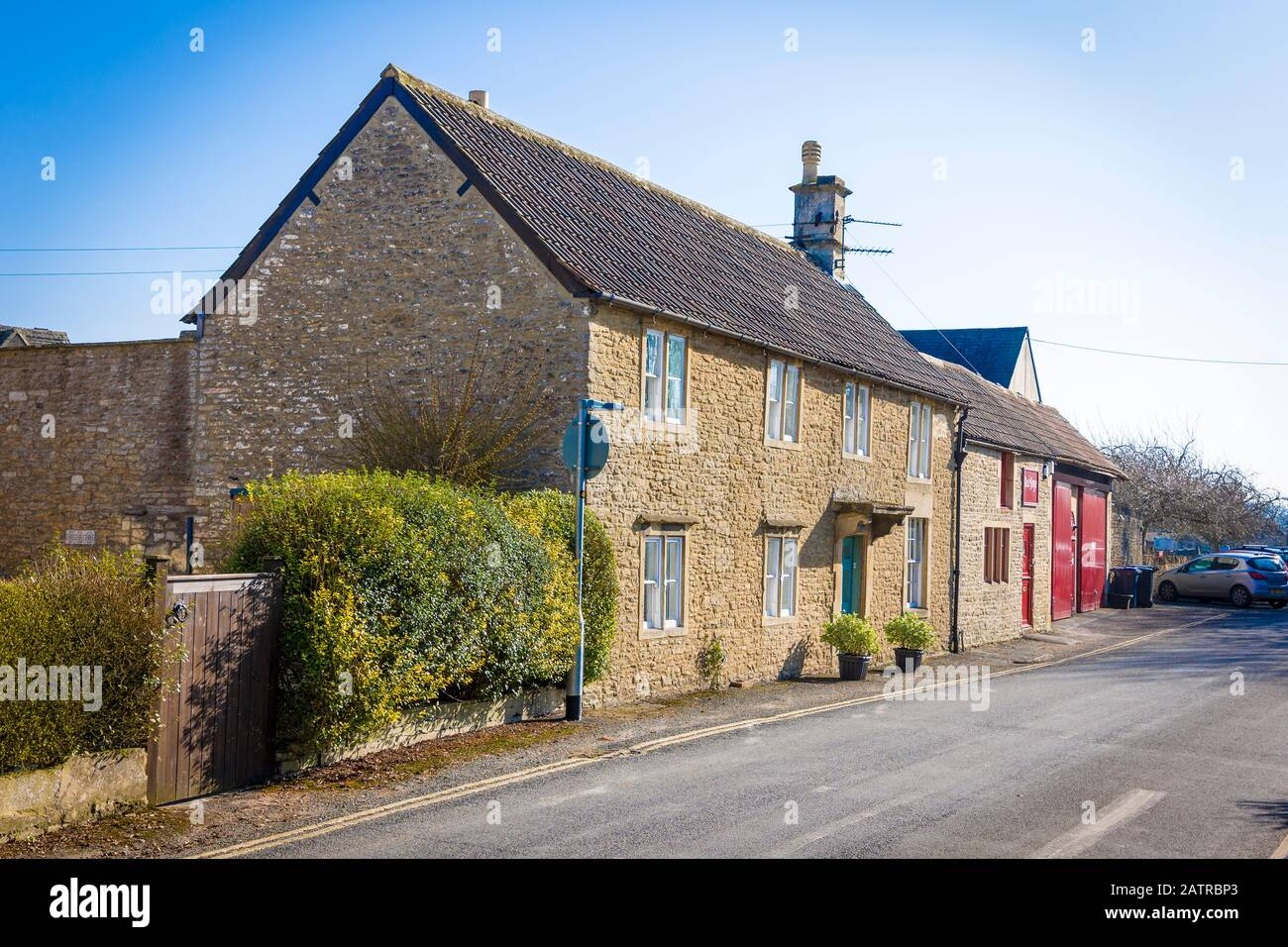 Private premises in Church Road Corsham town Wiltshire England UK Stock Photo