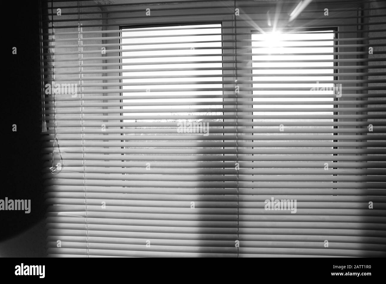 Sun Shine Outdoor Window With Blinds In The Room Stock Photo Alamy