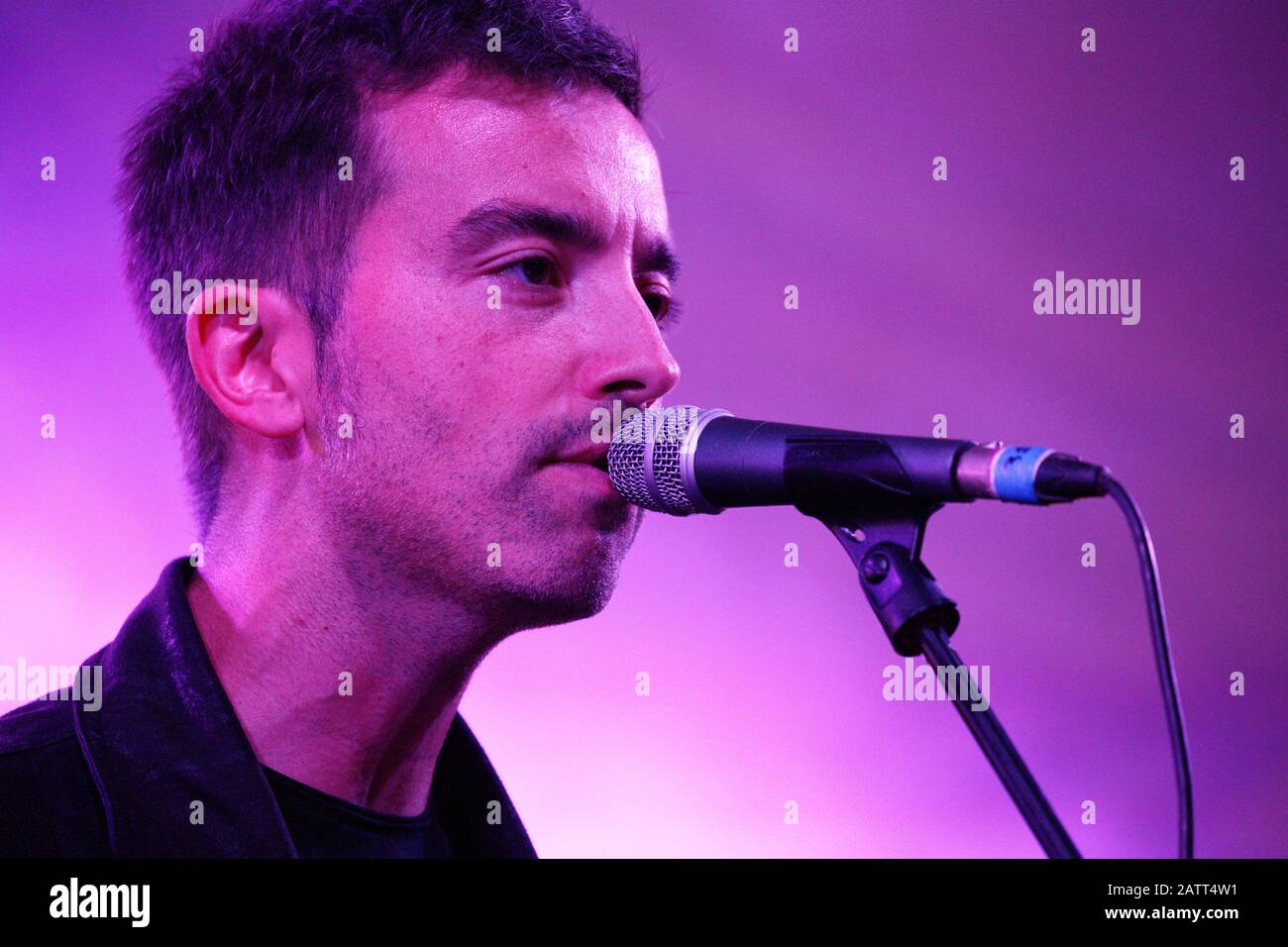 Turin, Italy. 14th September 2018. The Italian songwriter Diodato sings at the Proxima Festival in Turin. Credit: MLBARIONA/Alamy Stock Photo Stock Photo