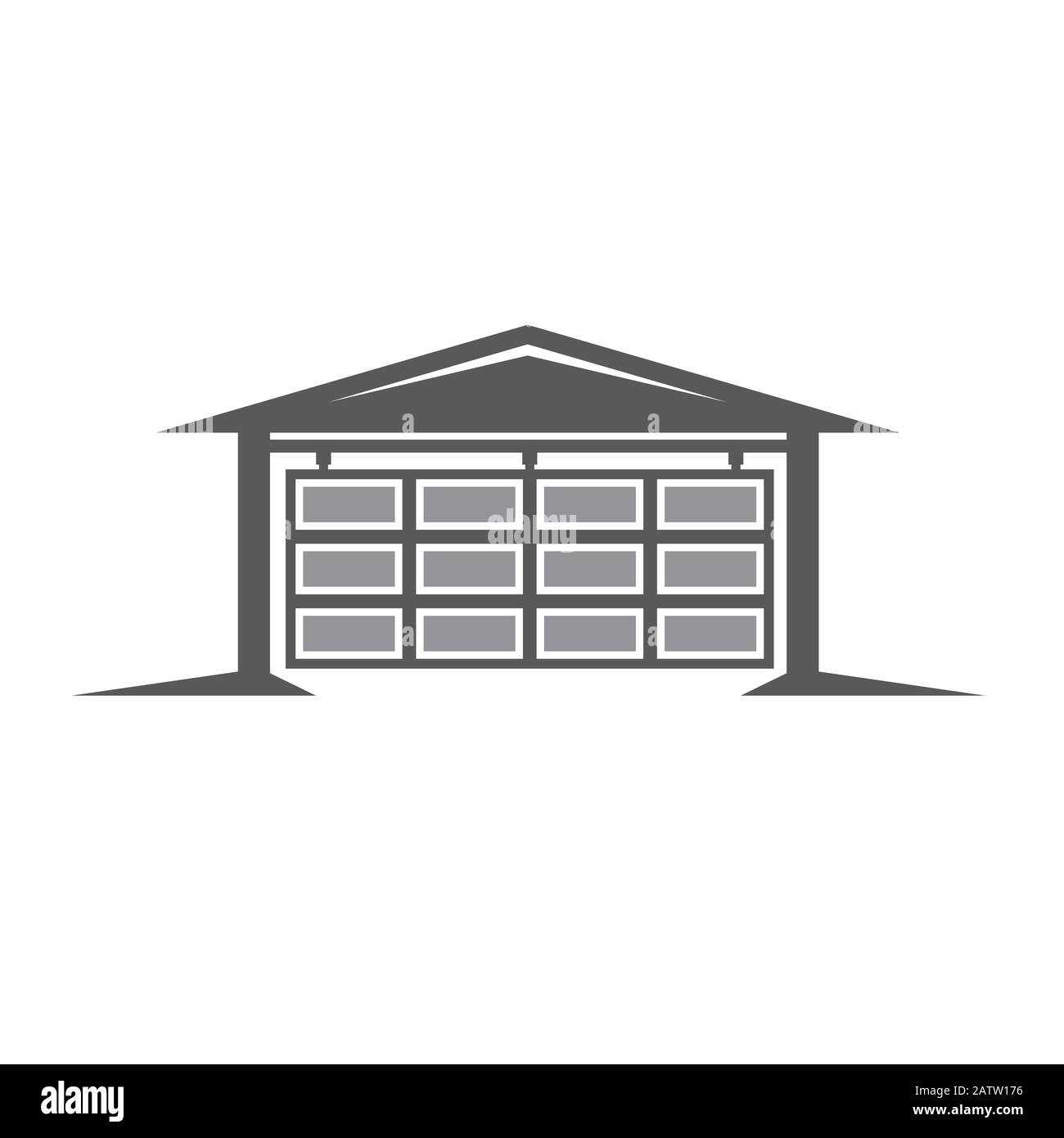 Flat Roof Garage High Resolution Stock Photography And Images Alamy
