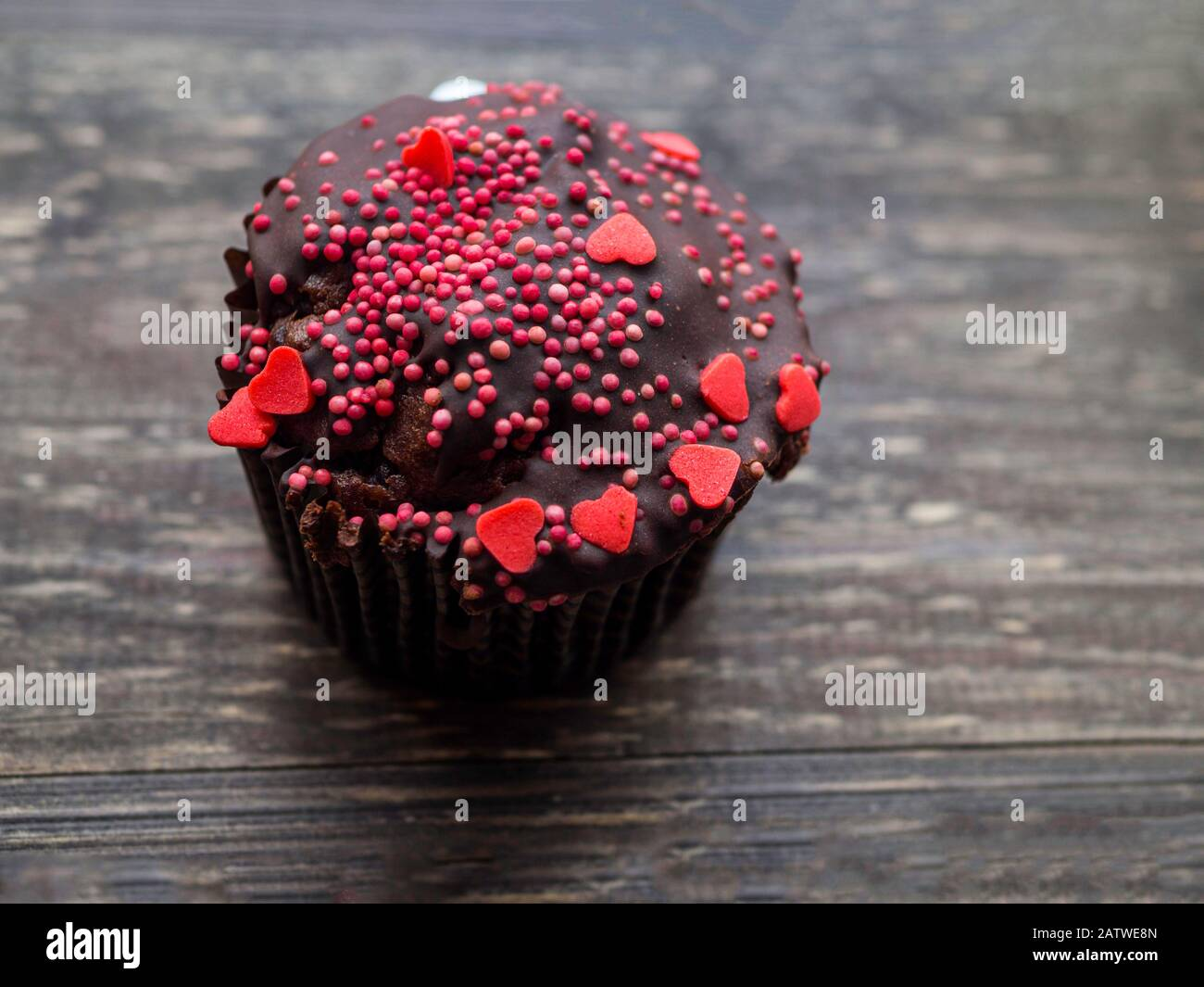 Awesome Chocolate Cupcake With Decorations For Valentines Day Mothers Birthday Cards Printable Riciscafe Filternl