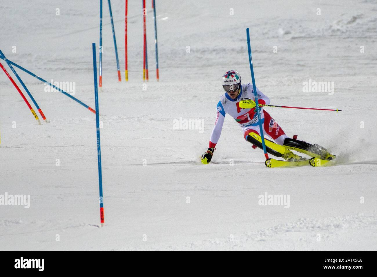 Daniel Yule Of Switzerland At First Round The Nightrace Schladming On January 28 2020 In Schladming Photo By Thomas Reiner Espa Images Stock Photo Alamy