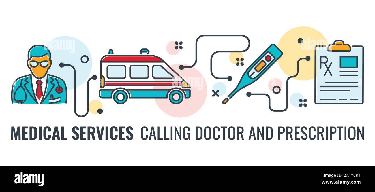 Medicine And Healthcare Banner Stock Vector Image Art Alamy