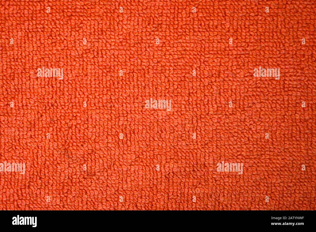 A Beautiful Orange Natural Cotton Towel Background Closeup Of The Grapefruit Colored Soft Fiber Texture Amazing Macro Of The Wonderful Surface Stock Photo Alamy