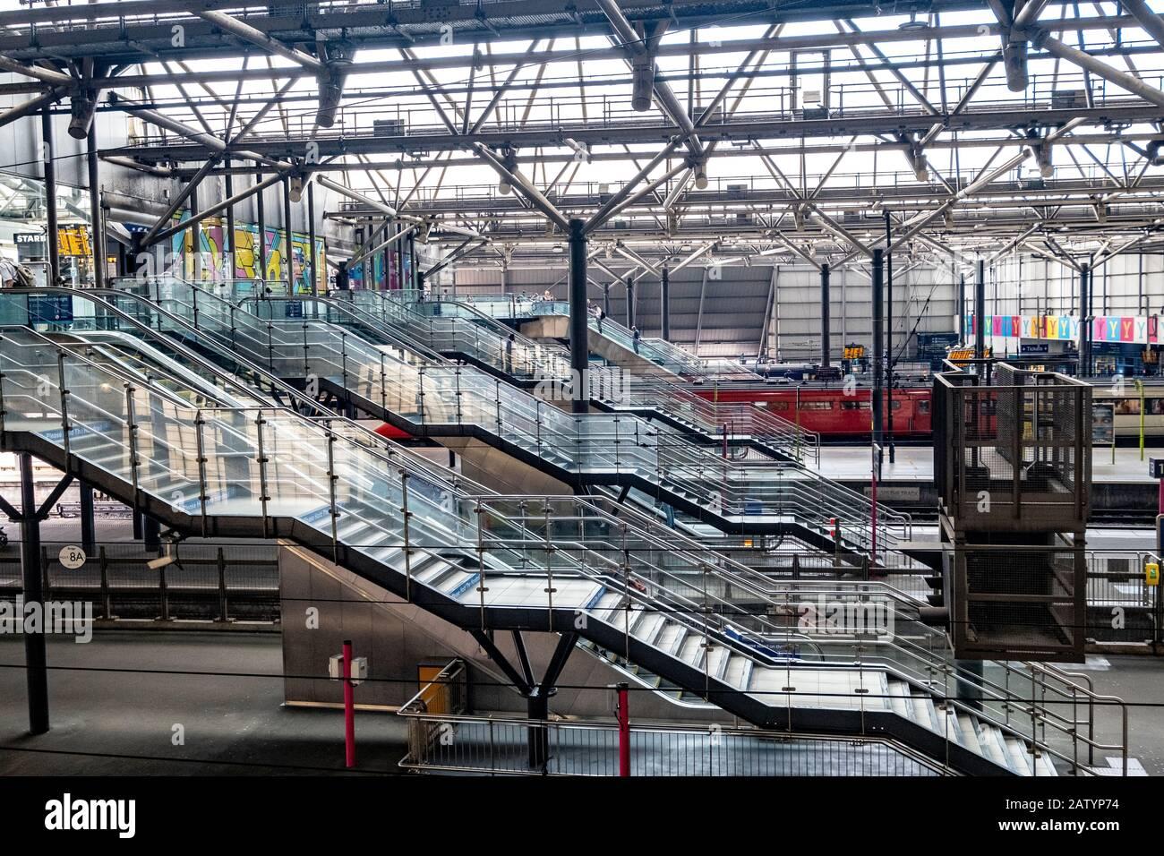 Leeds Train Station Stock Photo