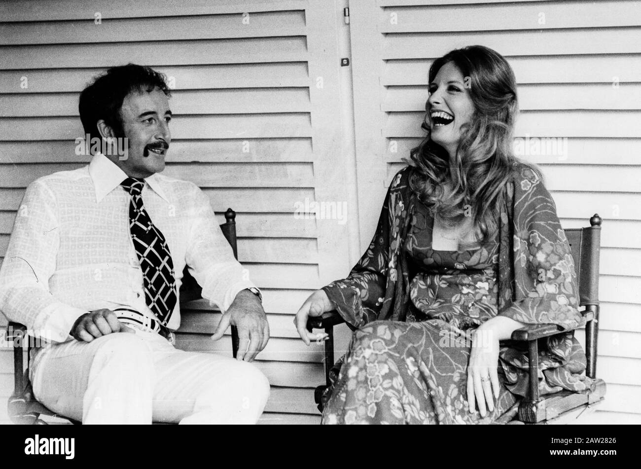 peter sellers, catherine schell, the return of the pink panther, 1975 Stock Photo
