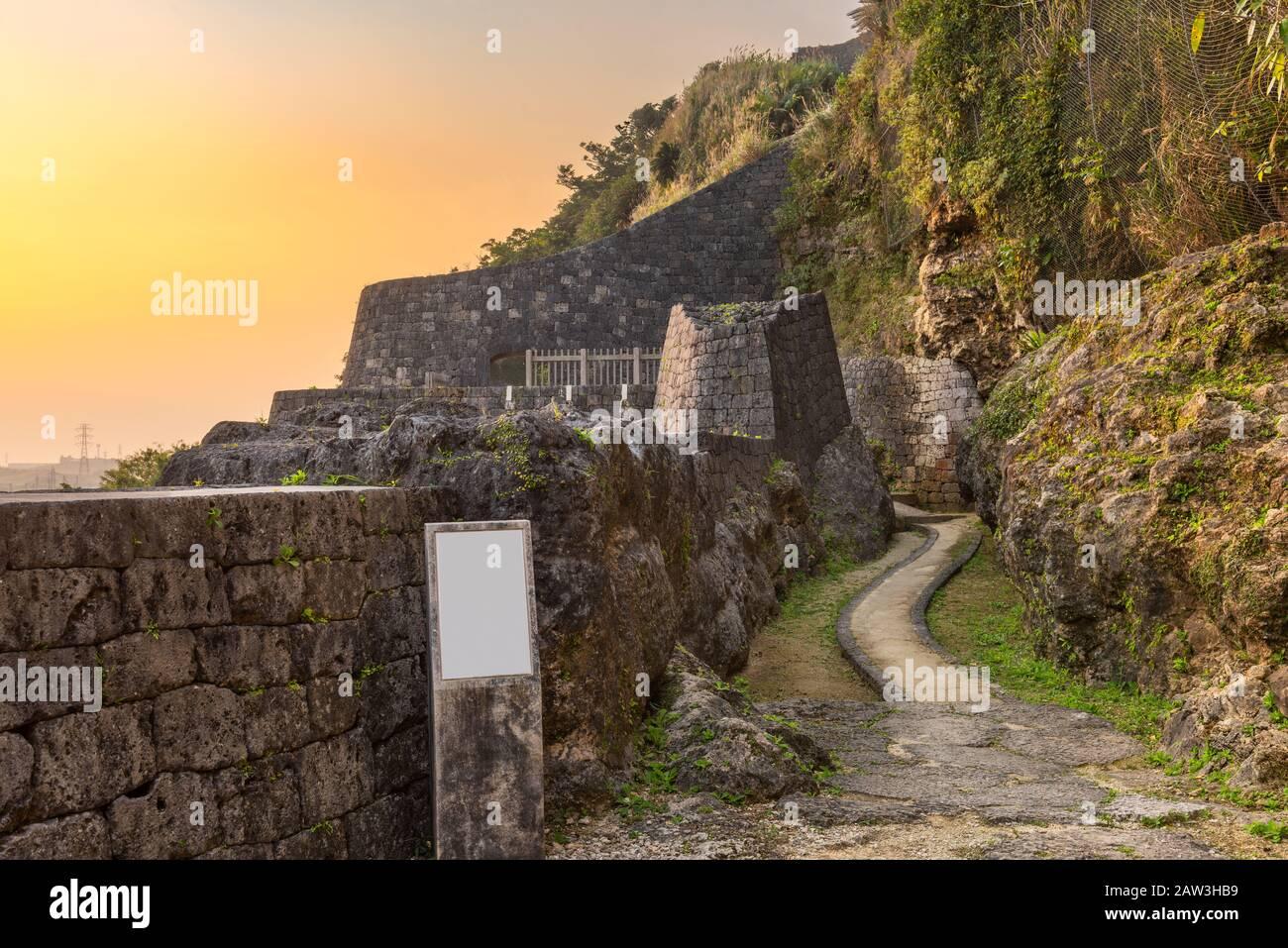 Urasoe Okinawa Japan At Urasoe Castle Ruins The Site Is Part Of The Infamous Hacksaw Ridge Stock Photo Alamy