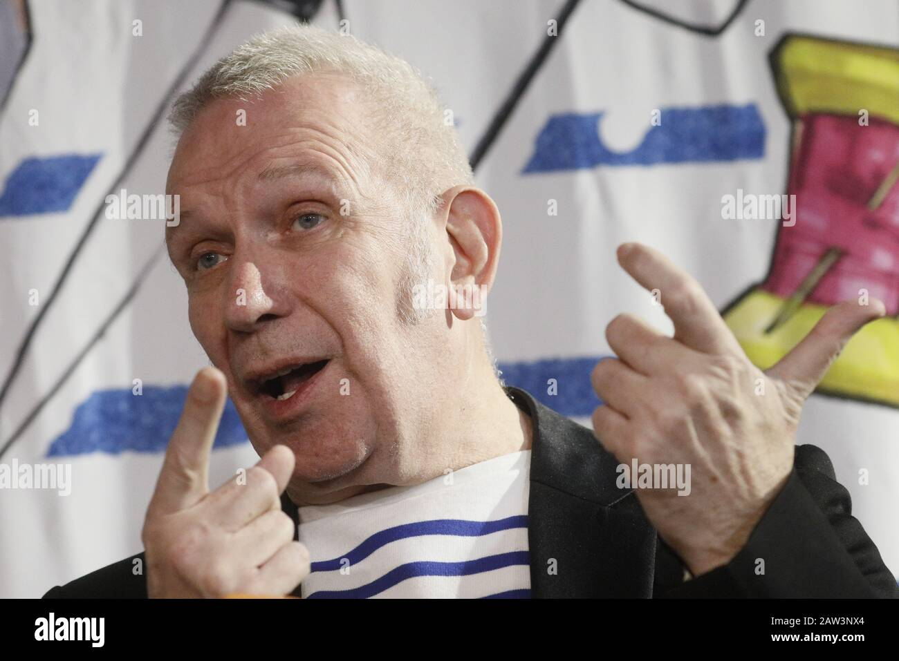 Moscow Russia February 6 2020 French Fashion Designer Jean Paul Gaultier Ahead Of The Moscow Premiere