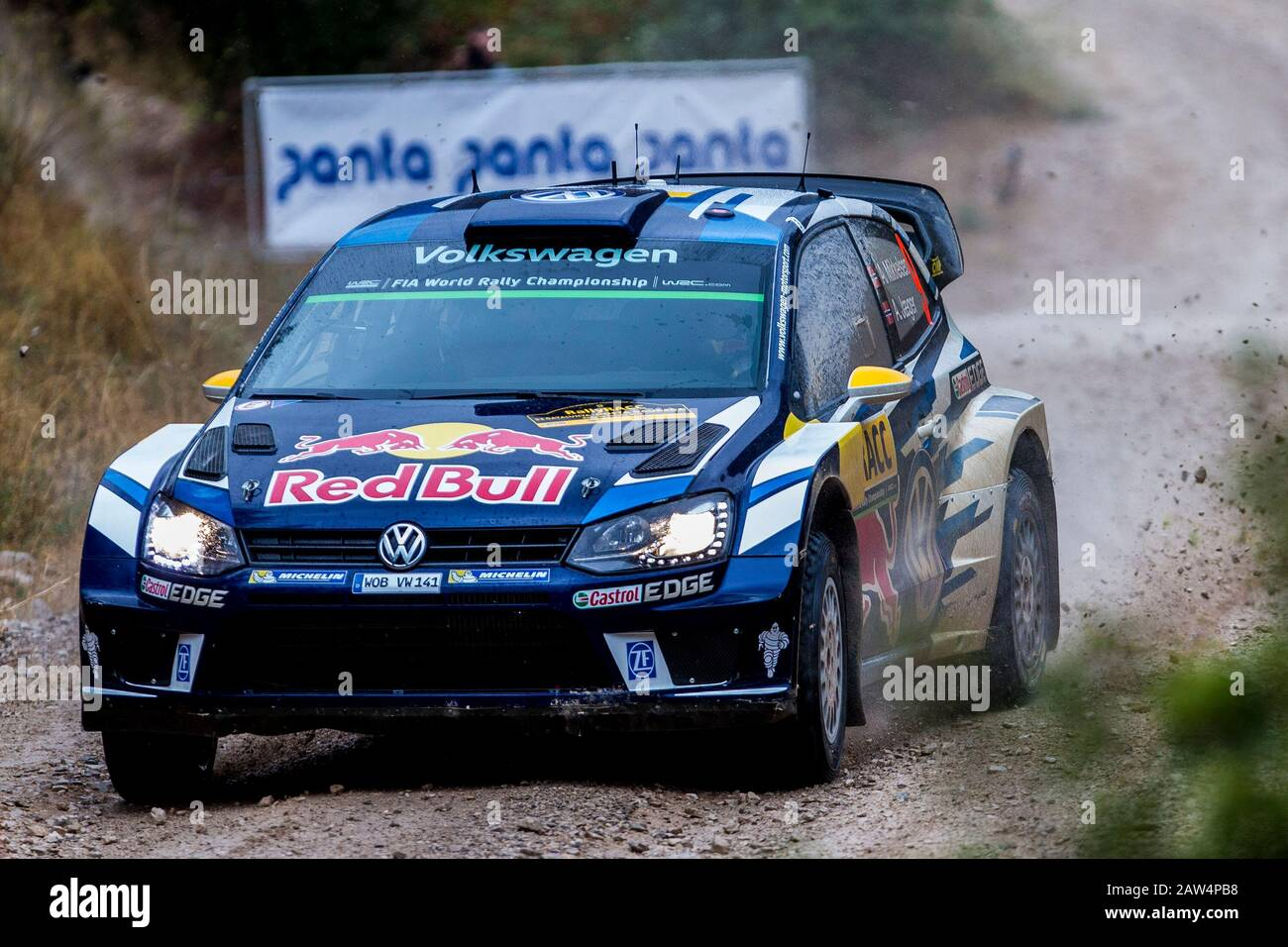 Andreas Mikkelsen Anders Jaeger Volkswagen Polo R Wrc During The World Rally Car Racc Catalunya Costa Dourada 2016 Rally Spain In Catalunya Spai Stock Photo Alamy