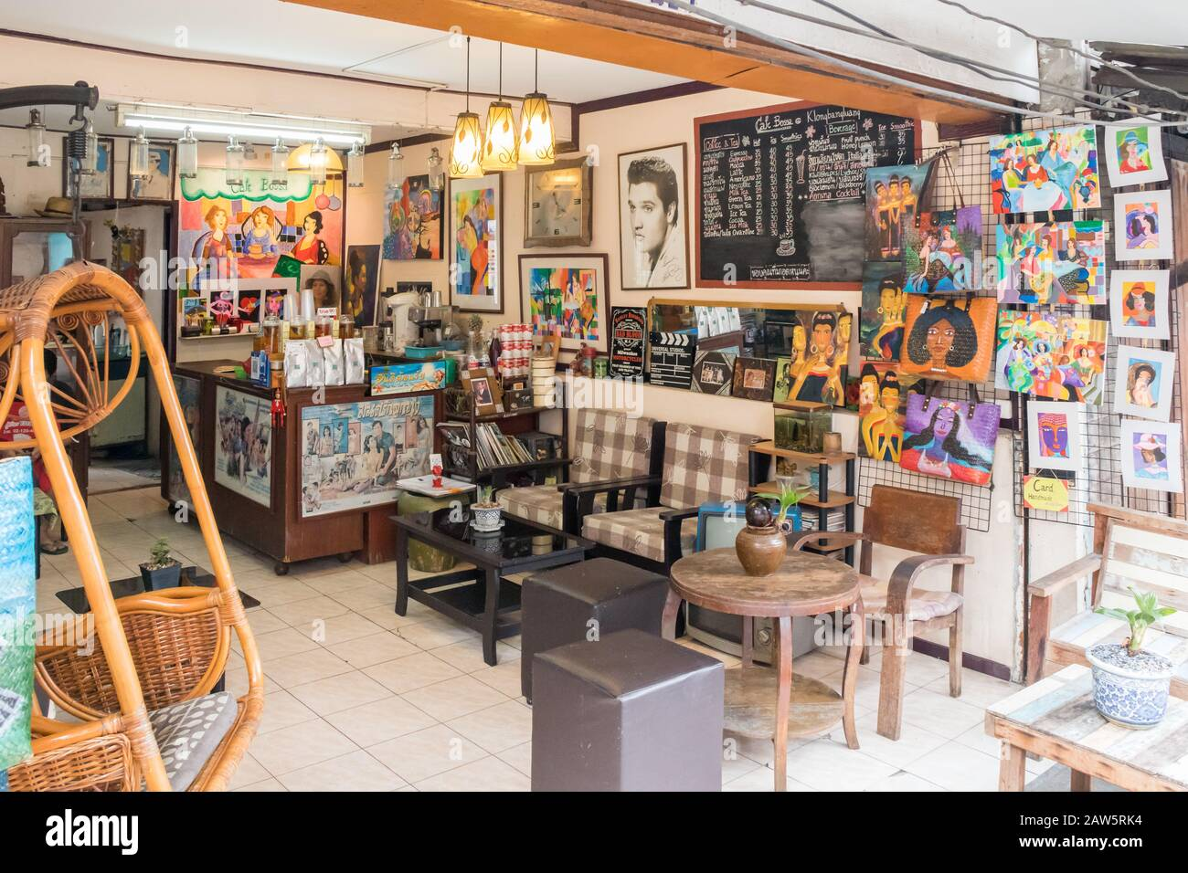 Retro Style Cafe High Resolution Stock Photography And Images Alamy