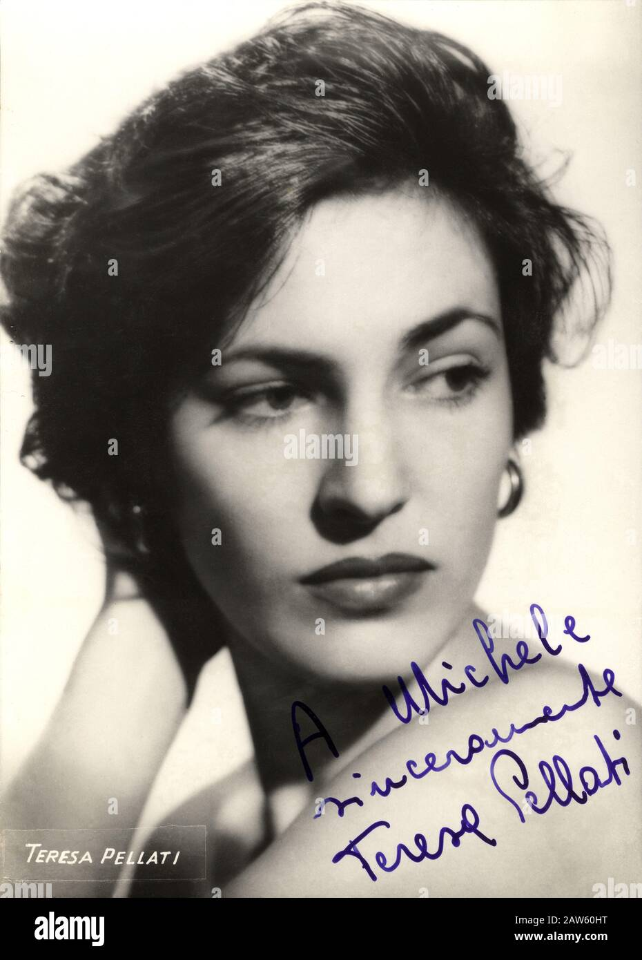 1951 ca, ITALY : The italian movie actress TERESA PELLATI ( 1929 - 2010 ), under contract with producer Dino De Laurentiis and very  close friend   of Stock Photo