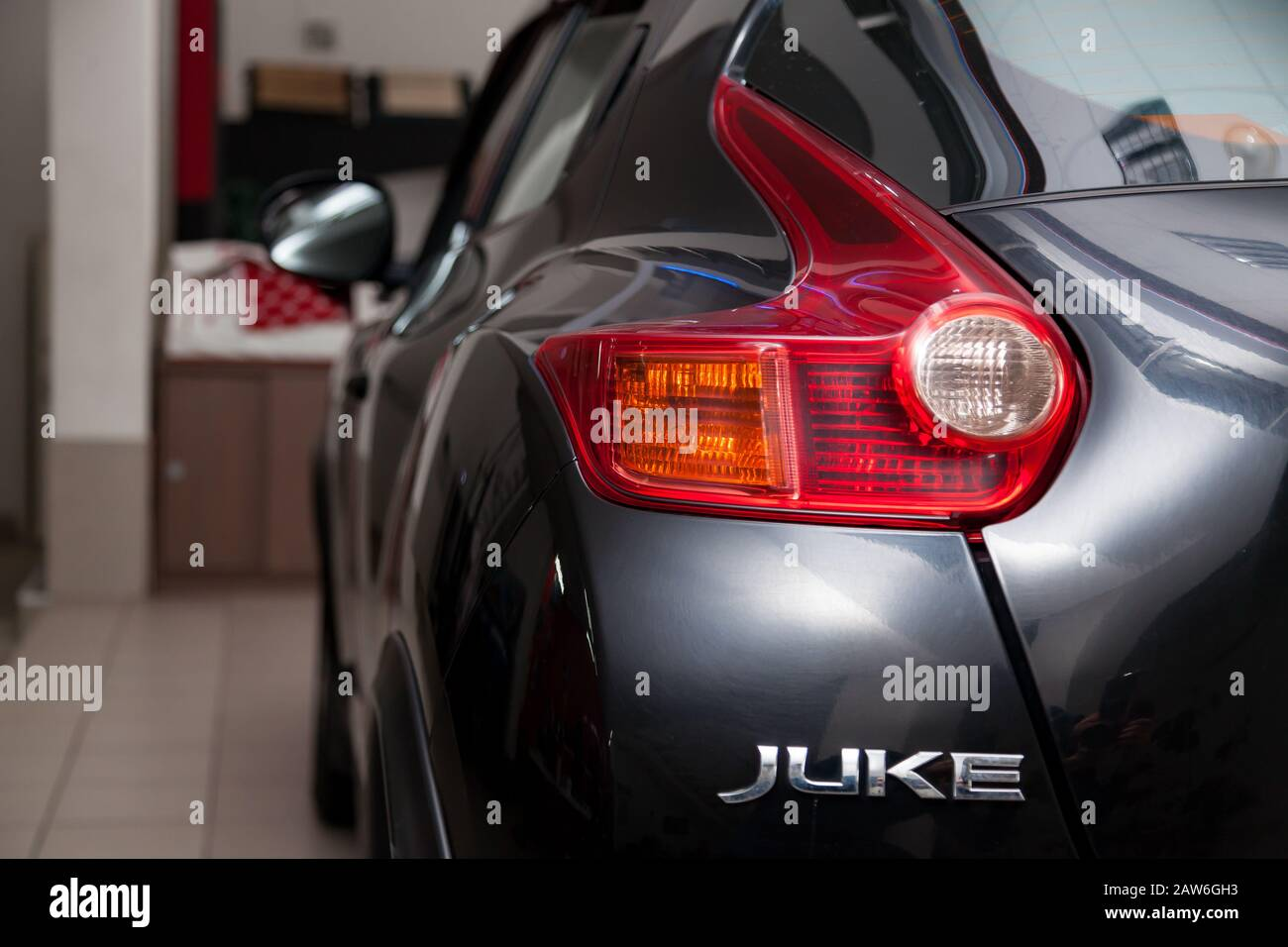 Novosibirsk Russia 02 05 2020 Black Used Nissan Juke With Front View On The Car Snow Parking After Preparing For Sale Stock Photo Alamy