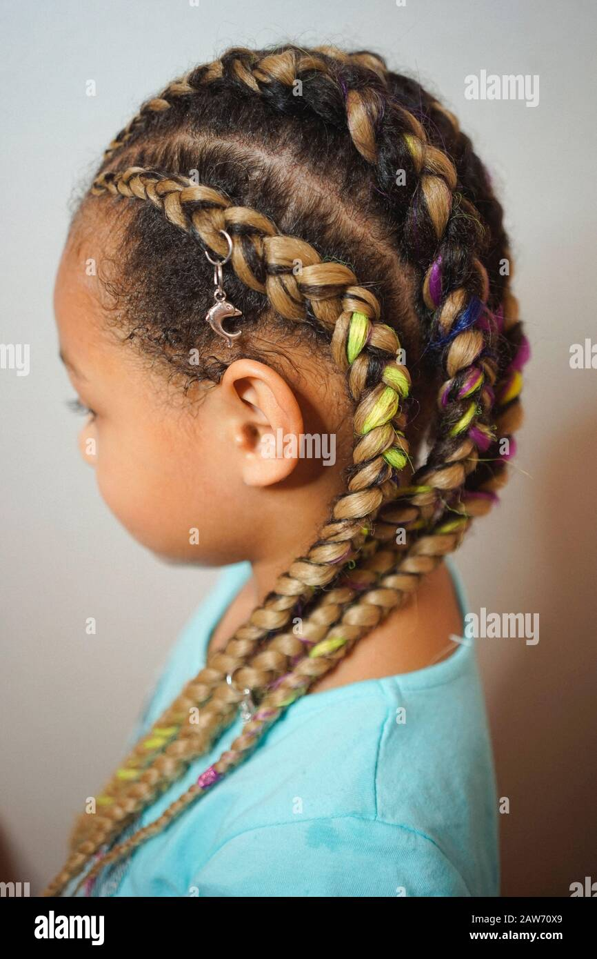 Admirable Boxing Braids On African Hair A Little Girl With Fashionable Schematic Wiring Diagrams Phreekkolirunnerswayorg