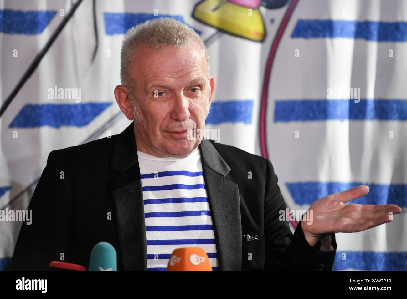 Moscow Russia 7th Feb 2020 French Fashion Designer Jean Paul Gaultier During A Press Conference Before His Fashion Freak Show At Moscow Palace Stock Photo Alamy