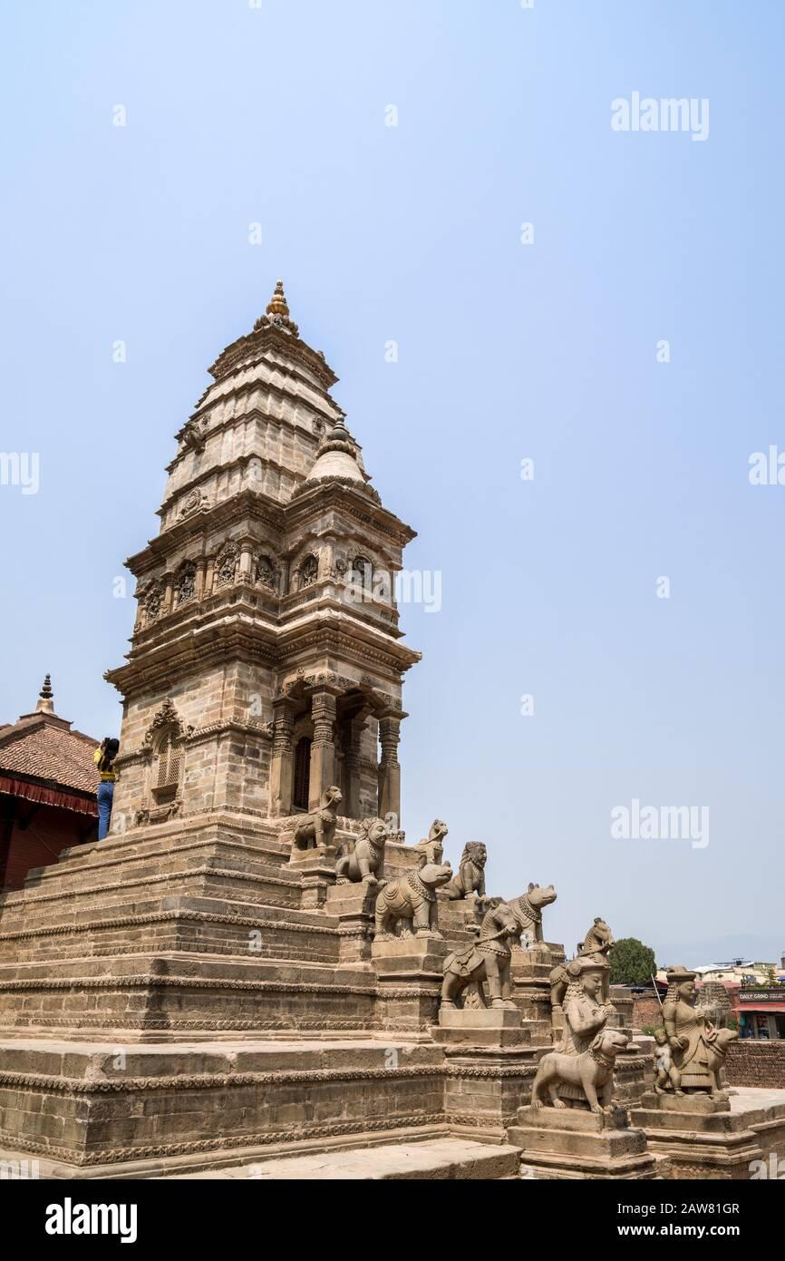 Siddhi Lakshmi Temple at Durbar Square of Bhaktapur, Kathmandu valley, Nepal Stock Photo