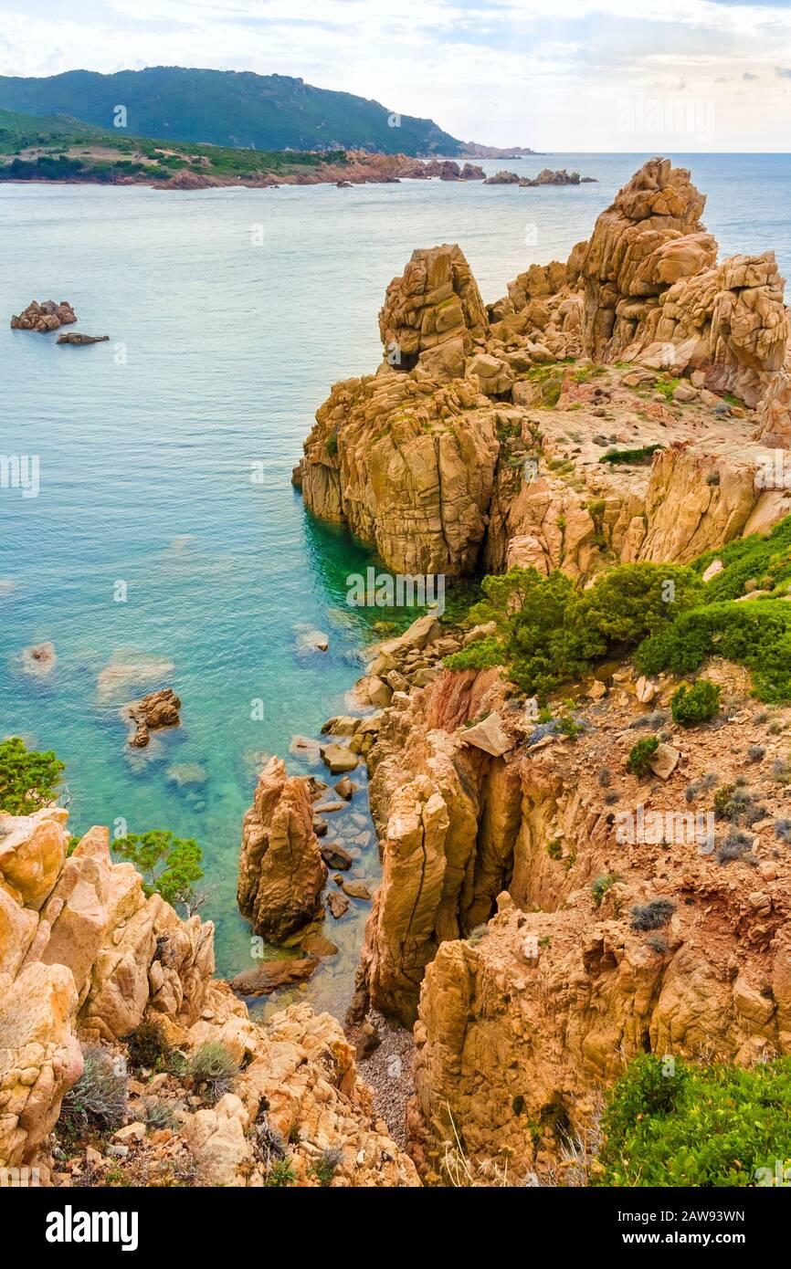 Costa Paradiso, rocky landscape - Island Sardinia, Italy Stock Photo