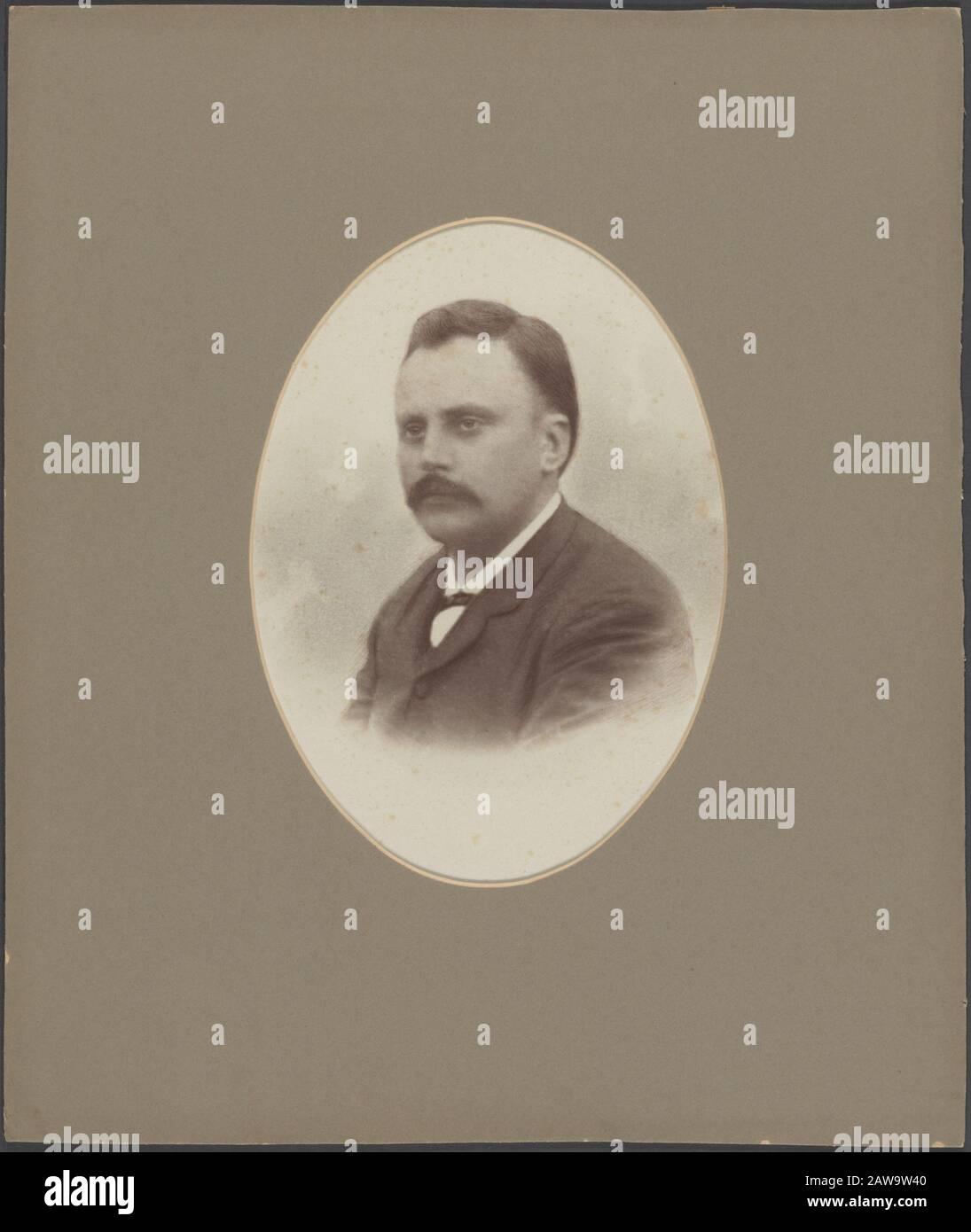 Deli Company: Group portraits and portraits description: Portrait of Joan Machiel Rappard (1850-1893) (administrator Medan) Name of Person: Rappard, J.M. Stock Photo