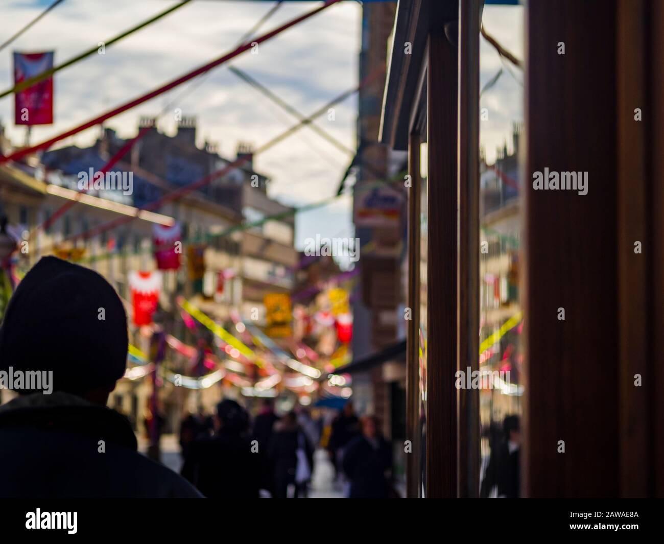 Korzo mailn street in Rijeka Croatia Europe before Carnival Stock Photo