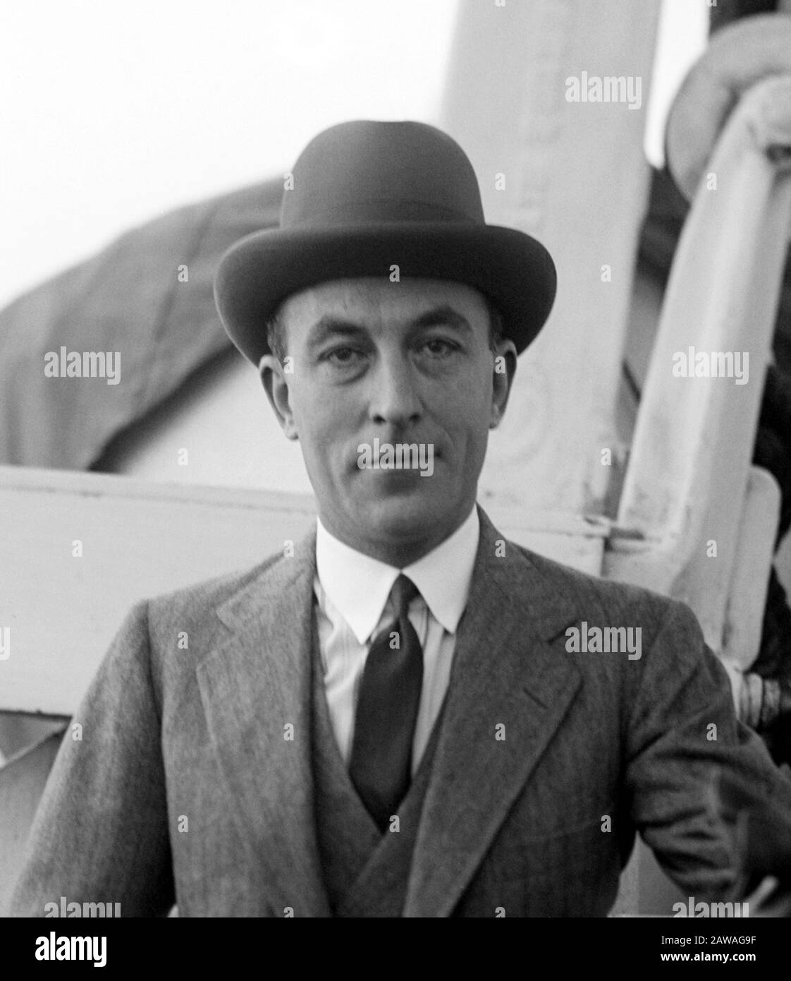 1924 25 October New York Usa The Most Celebrated French Fashion Designer Jean Patou 1887 1936 Arrive On Transatlantic In Usa Transa Stock Photo Alamy