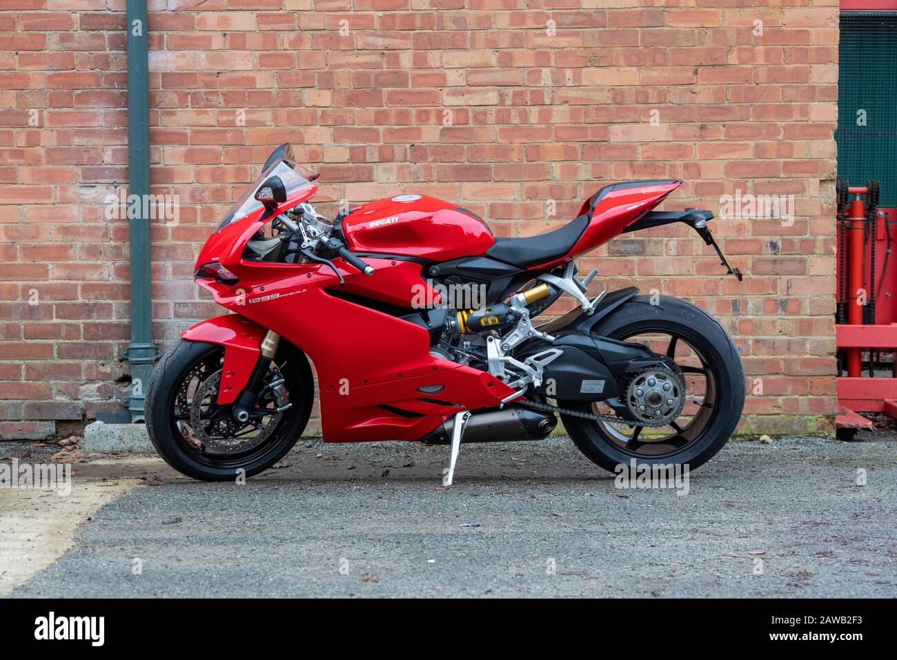 Ducati Panigale 1299cc motorcycle at Bicester heritage centre sunday scramble event. Bicester, Oxfordshire, England Stock Photo
