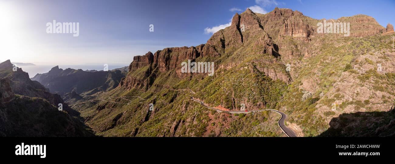 Volcanic landscape around Santiago del Teide, Tenerife, Canary Islands Stock Photo