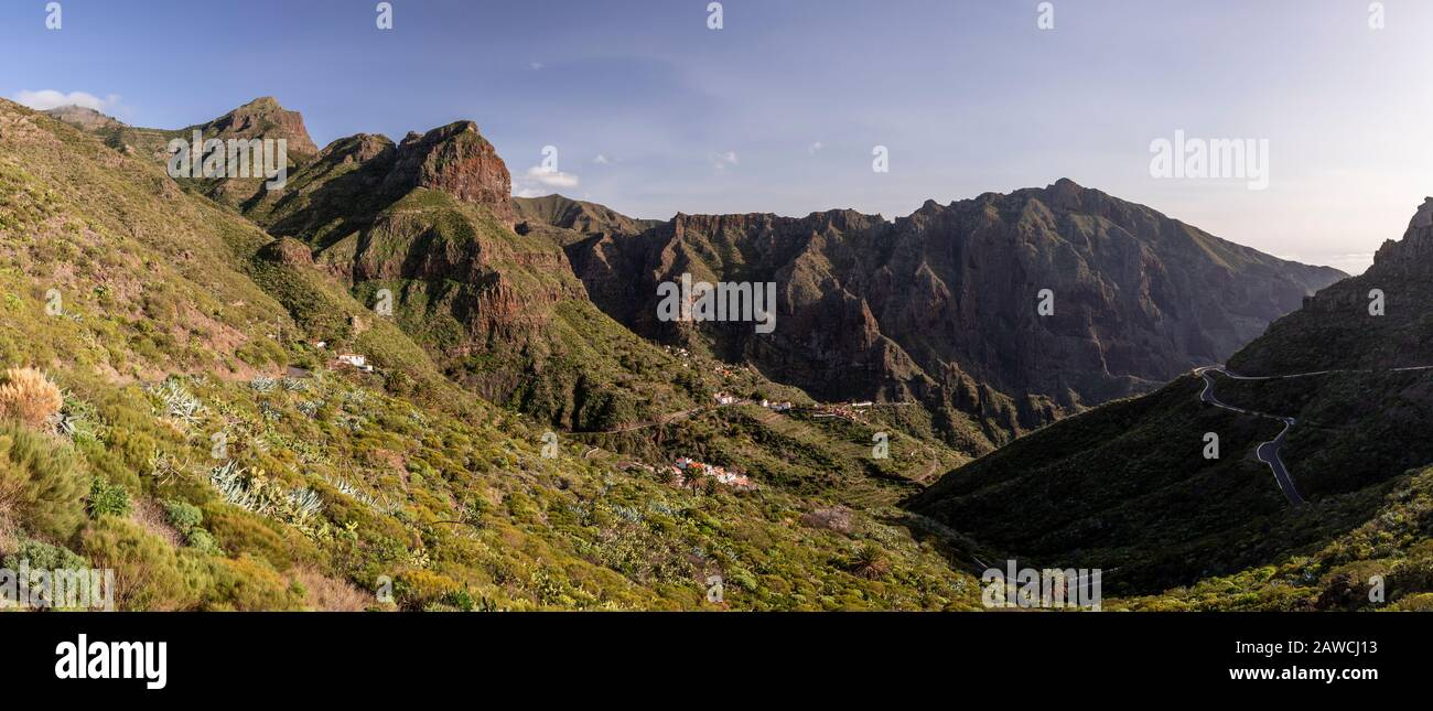 Volcanic landscape around Santiago del Teide, Tenerife, Canary Islands Stock Photo